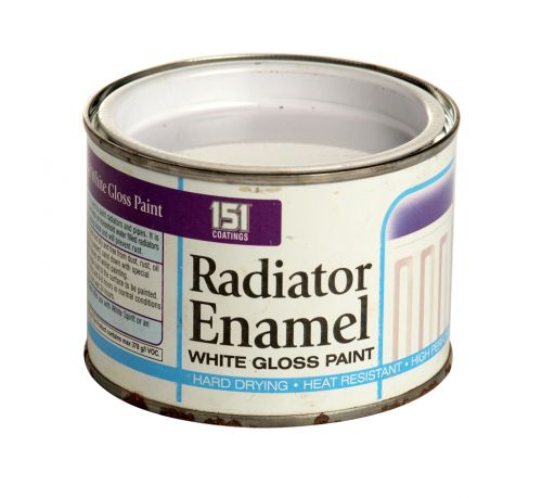 151 RADIATOR ENAMEL 180ML WHITE GLOSS X12
