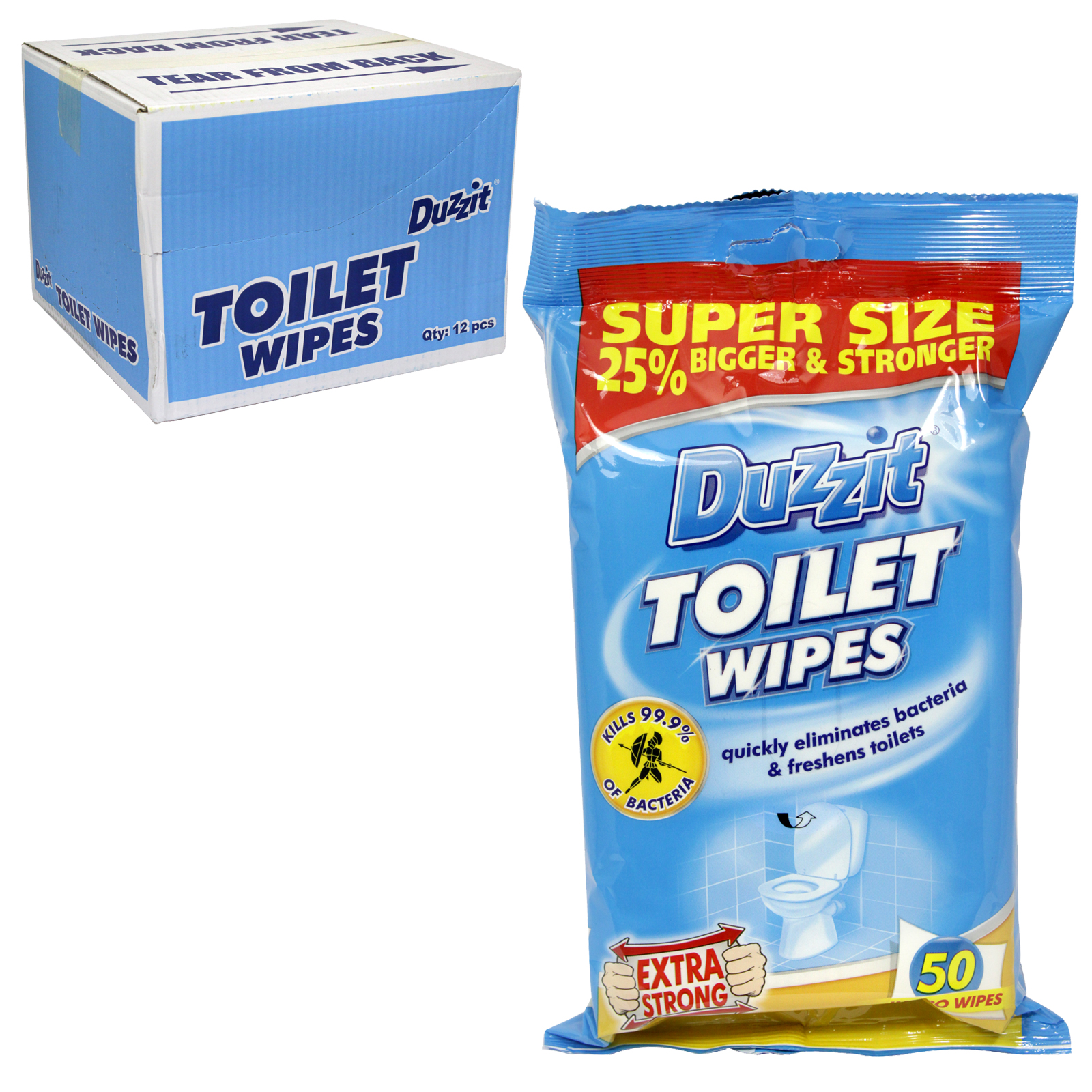 DUZZIT TOILET CLEANING WIPES 40S X16
