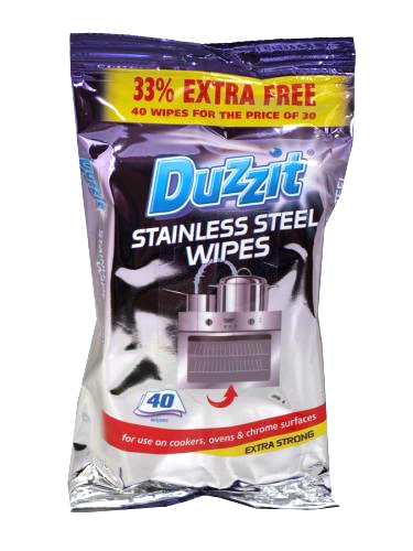 DUZZIT STAINLESS STEEL WIPES 40S X16