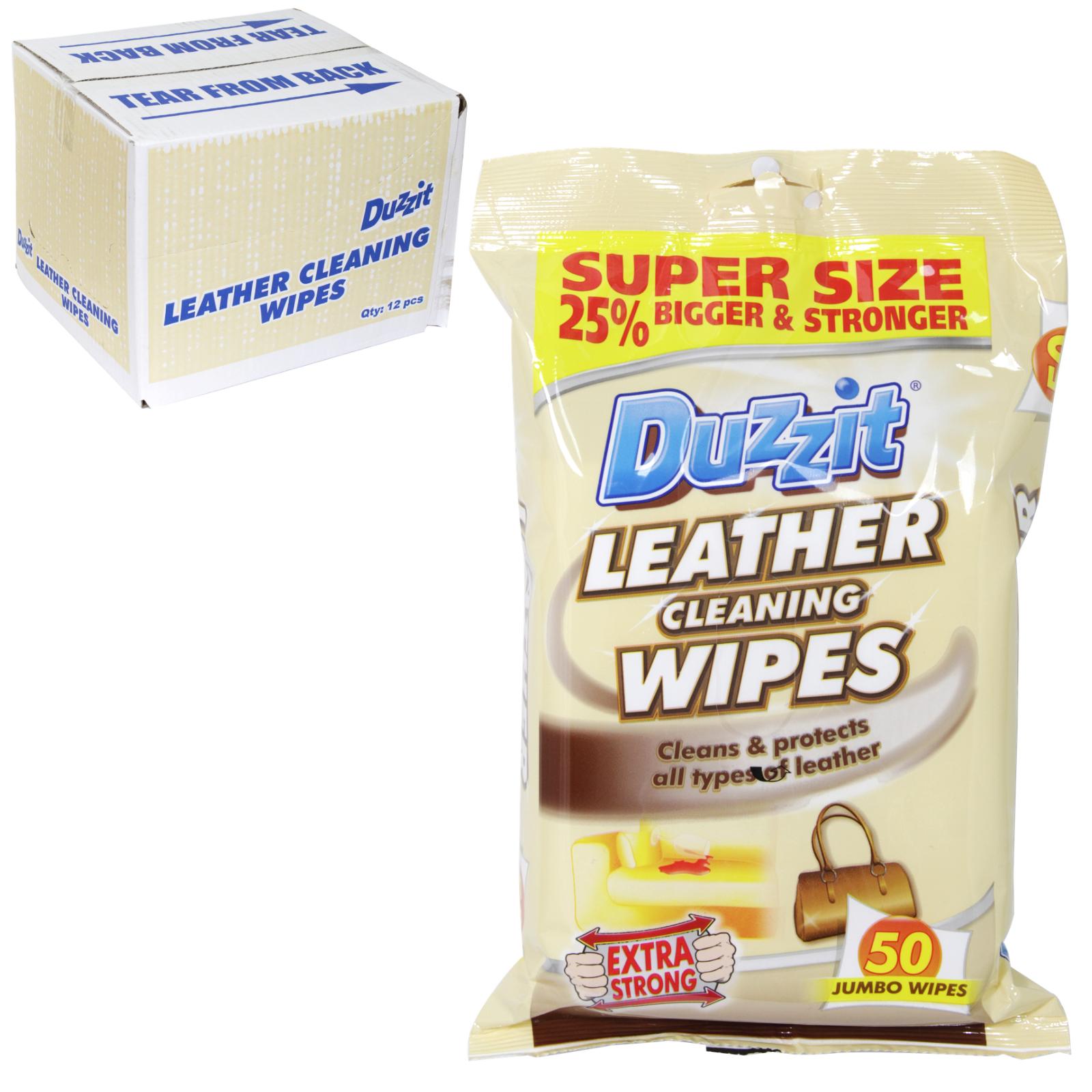 DUZZIT LEATHER WIPES 50S X12