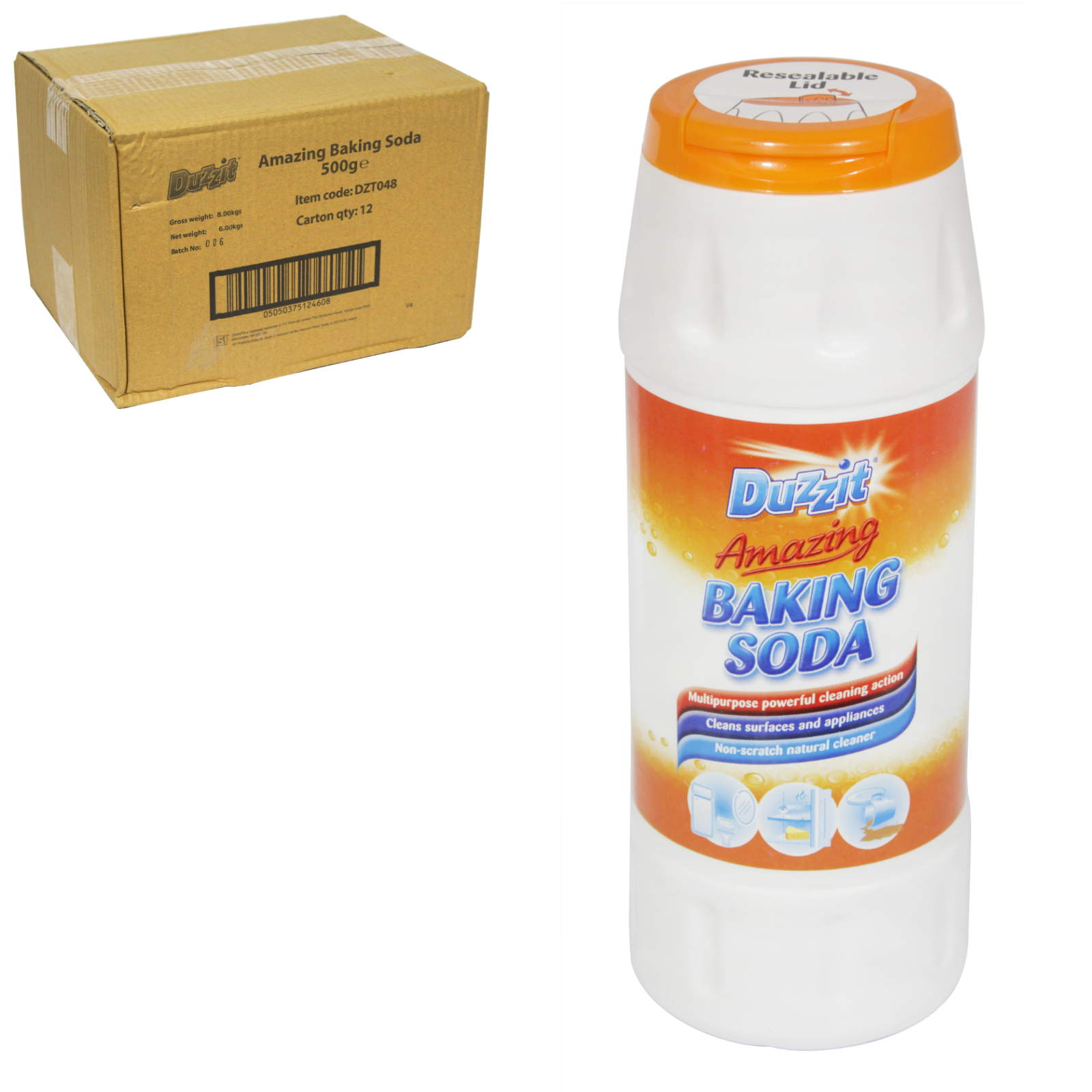 DUZZIT AMAZING BAKING SODA 500GM X12