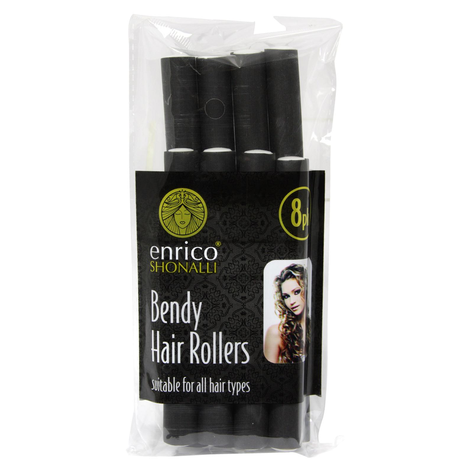 ENRICO HAIR ROLLERS BENDY 8PK