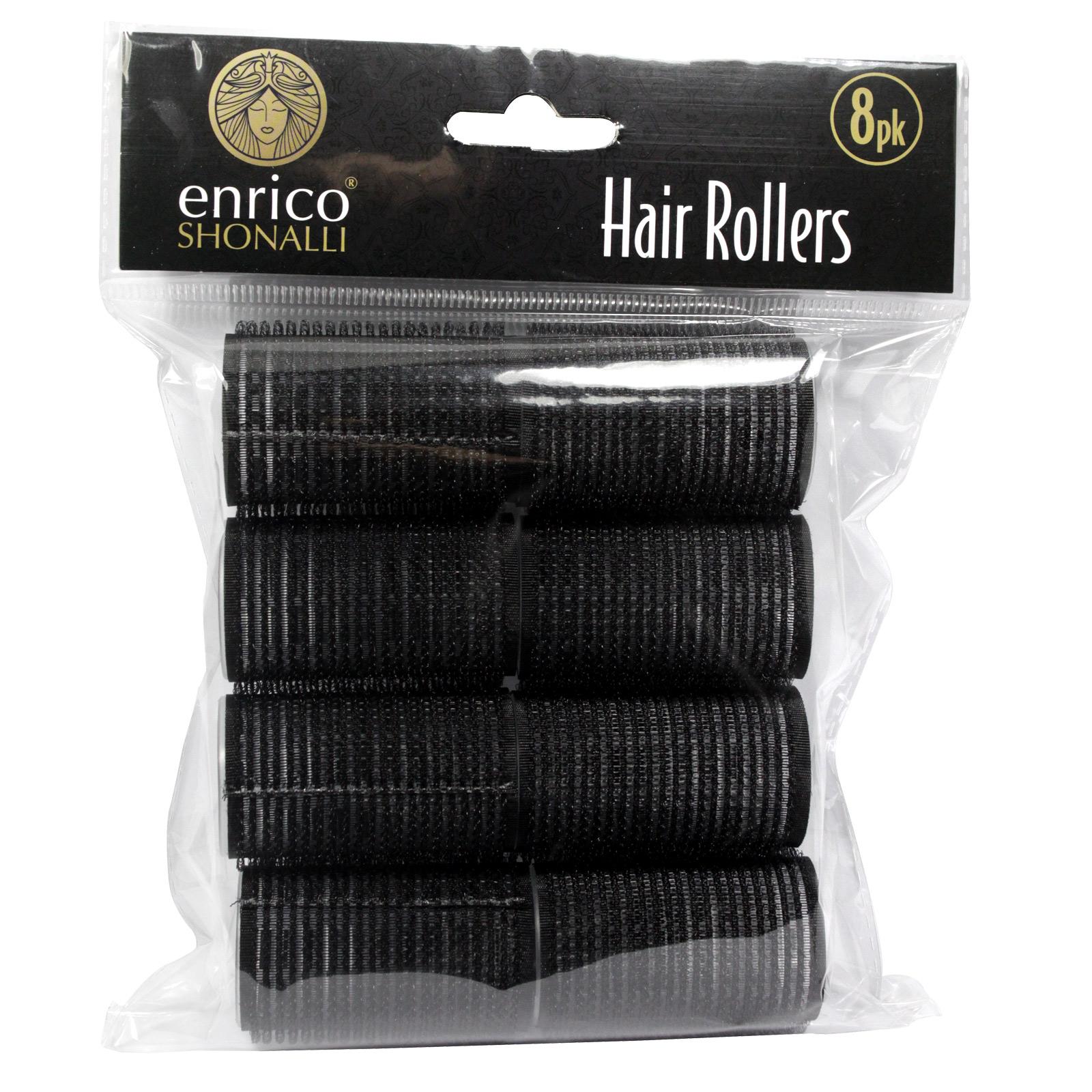 ENRICO HAIR ROLLERS VELCRO MEDIUM 8PK
