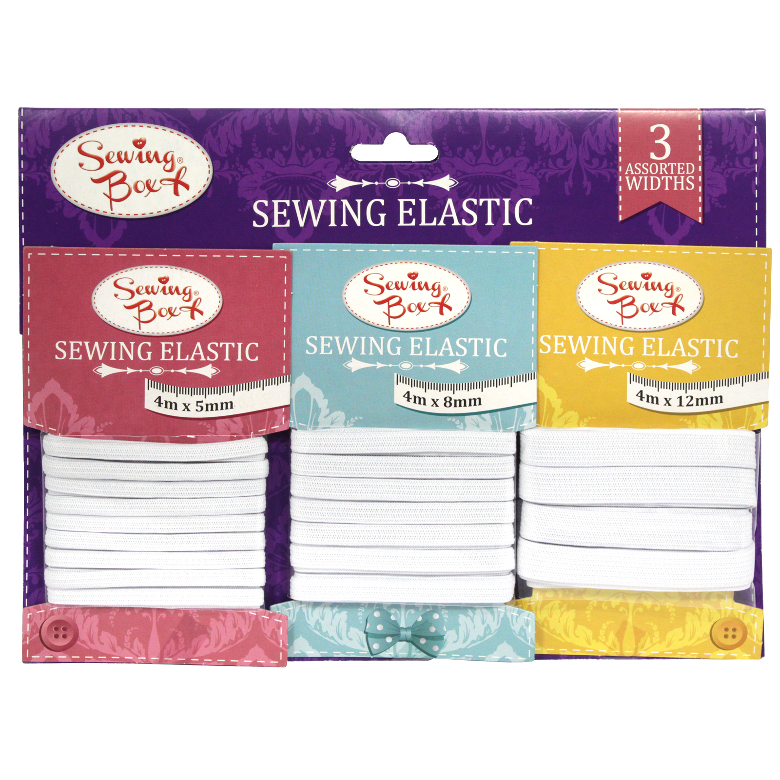 SEWING BOX SEWING 3 ASSORTED ELASTIC