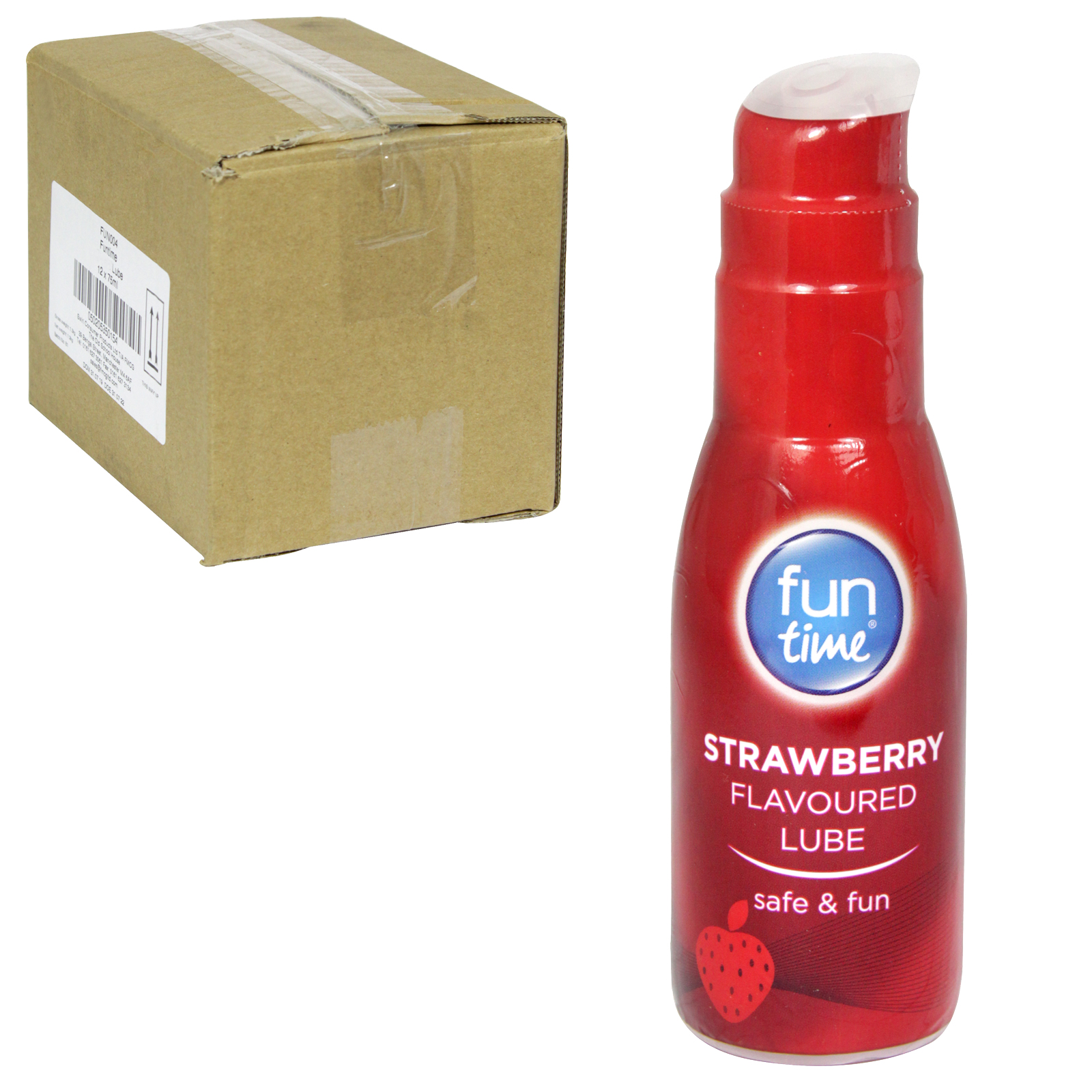 PLAY TIME LUBRICANT 75ML FLAVOURED STRAWBERRY X12