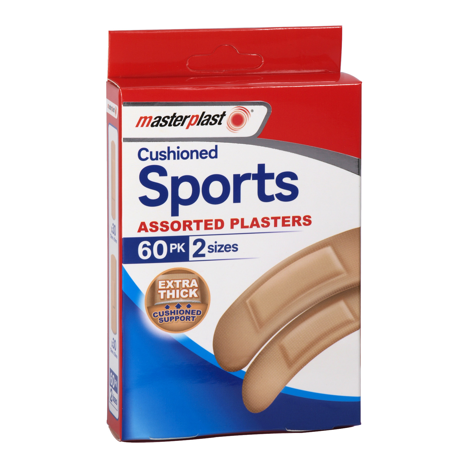 MASTER PLASTER 60 CUSHIONED SPORTS PLASTERS X12