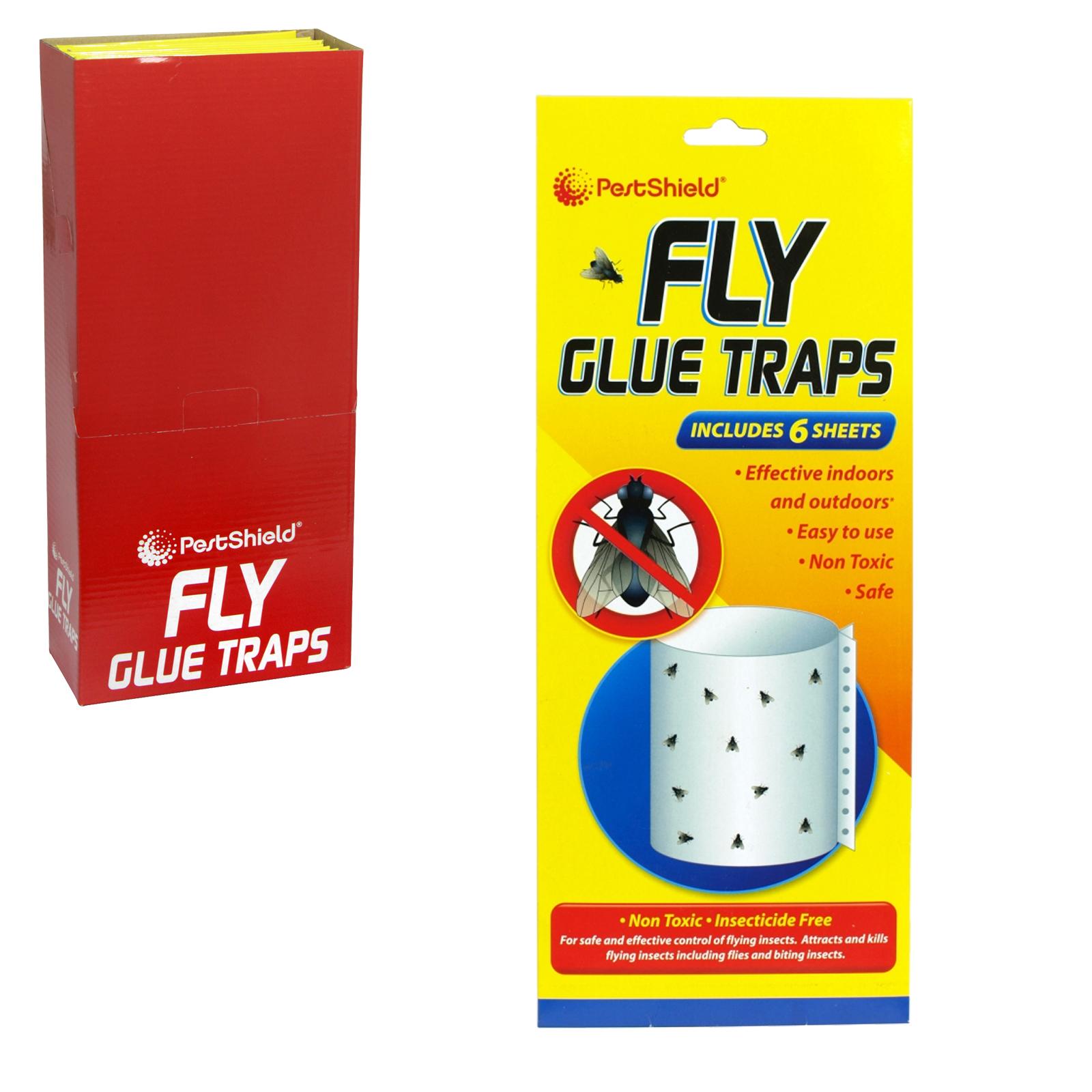 PESTSHEILD 4PK FLY GLUE TRAPS X12