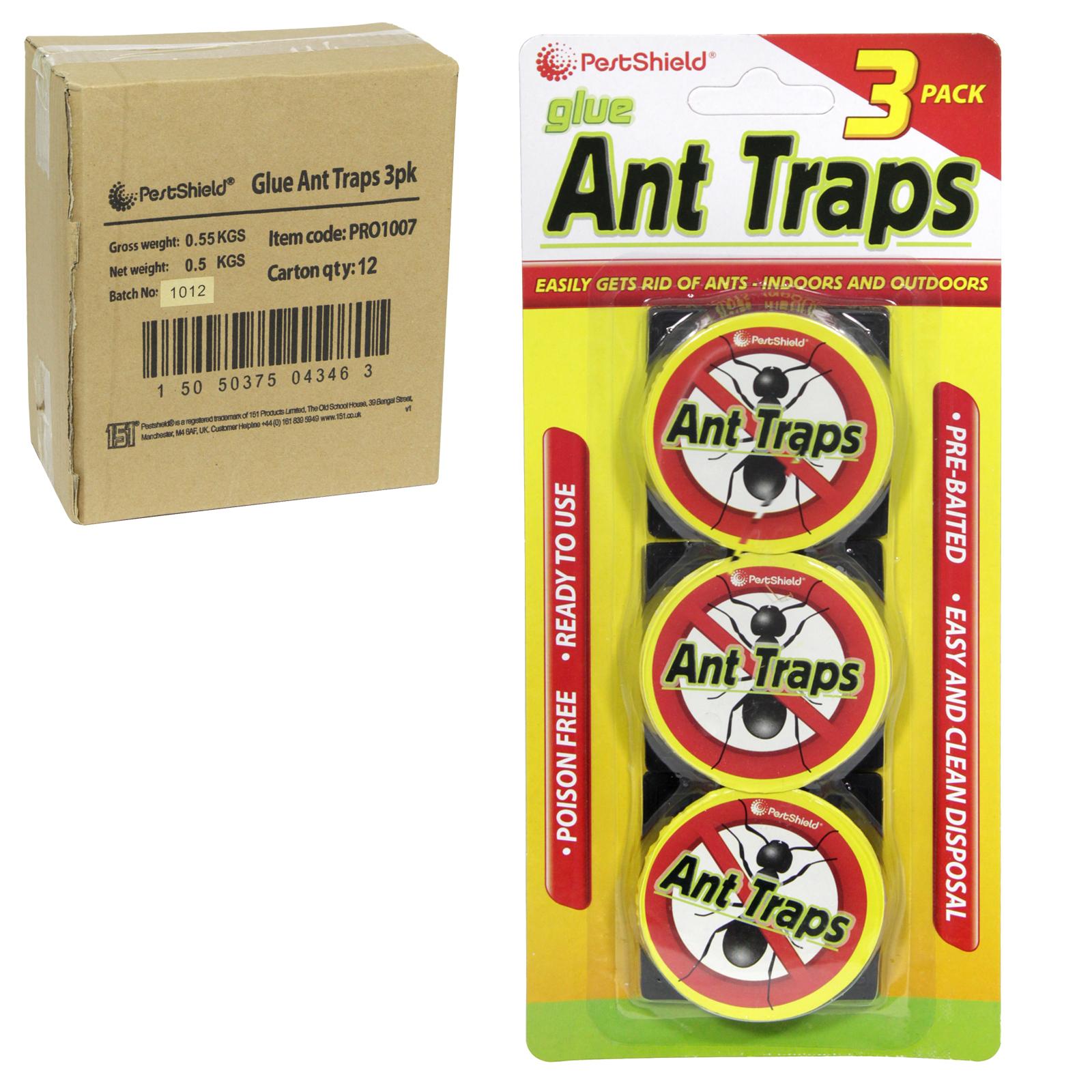 PESTSHEILD 3PK ANT TRAPS X12