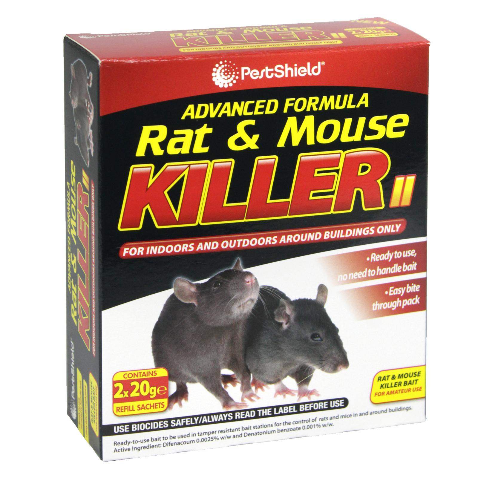 PESTSHIELD RAT+MOUSE KILLER 40GM