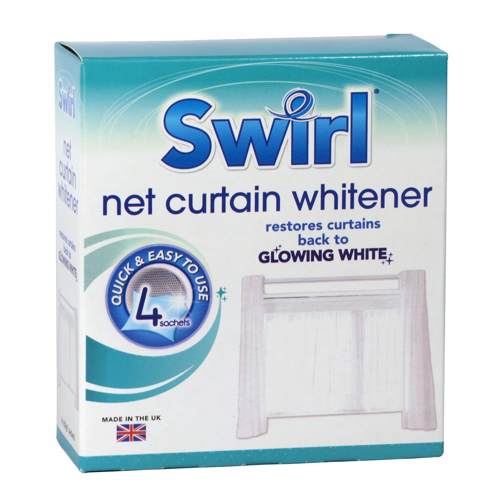 SWIRL NET CURTAIN WHITENER 4PK X12