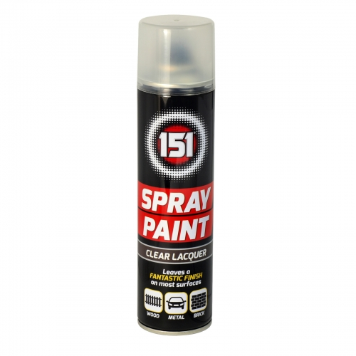 151 SPRAY PAINT 250ML CLEAR LACQUER