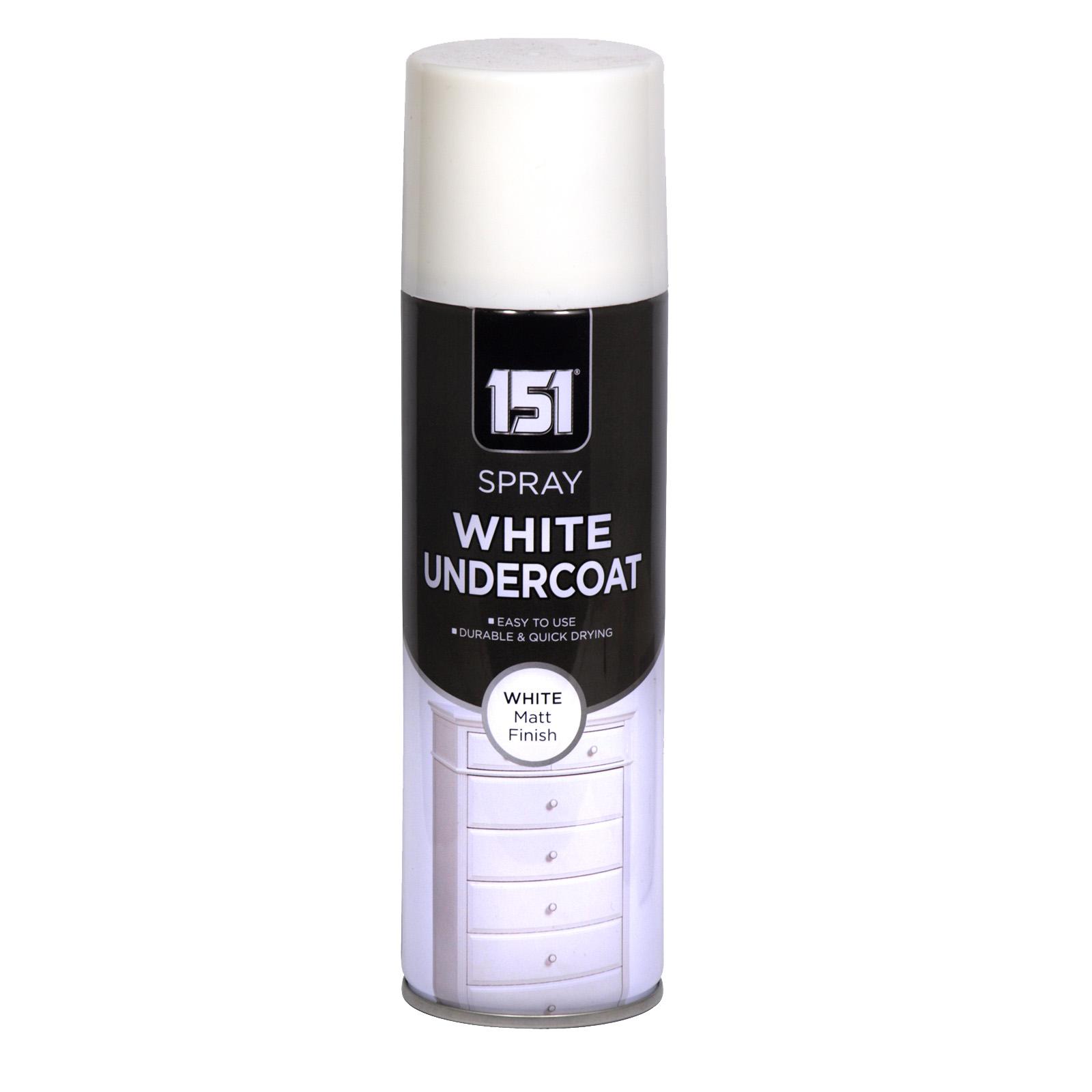 151 SPRAY PAINT 250ML WHITE UNDERCOAT