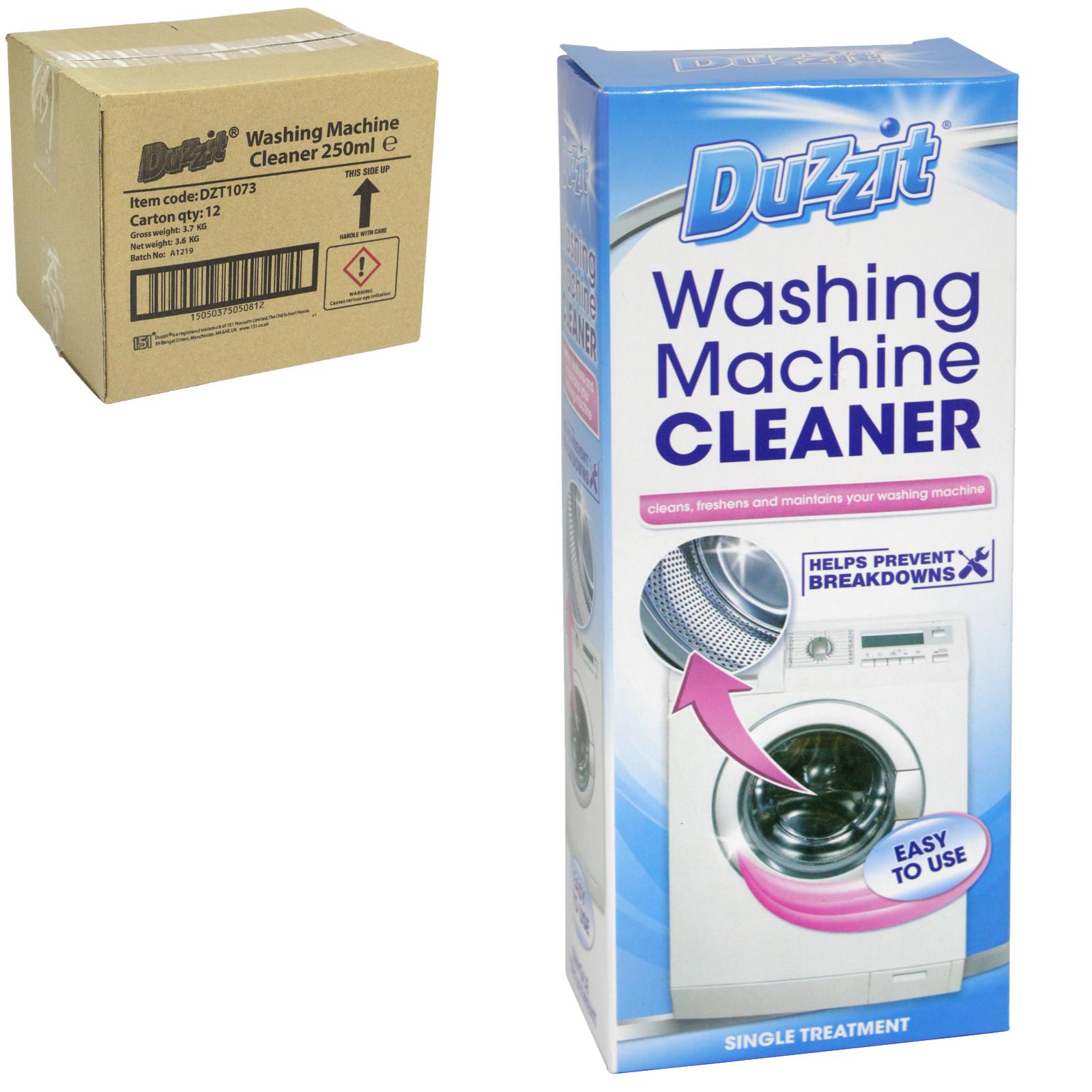 DUZZIT WASHING MACHINE CLEANER 250ML X12