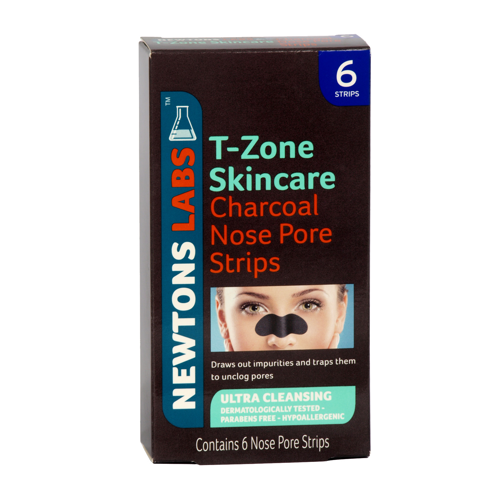 T-ZONE 6 NOSE PORE STRIPS CHARCOAL X6