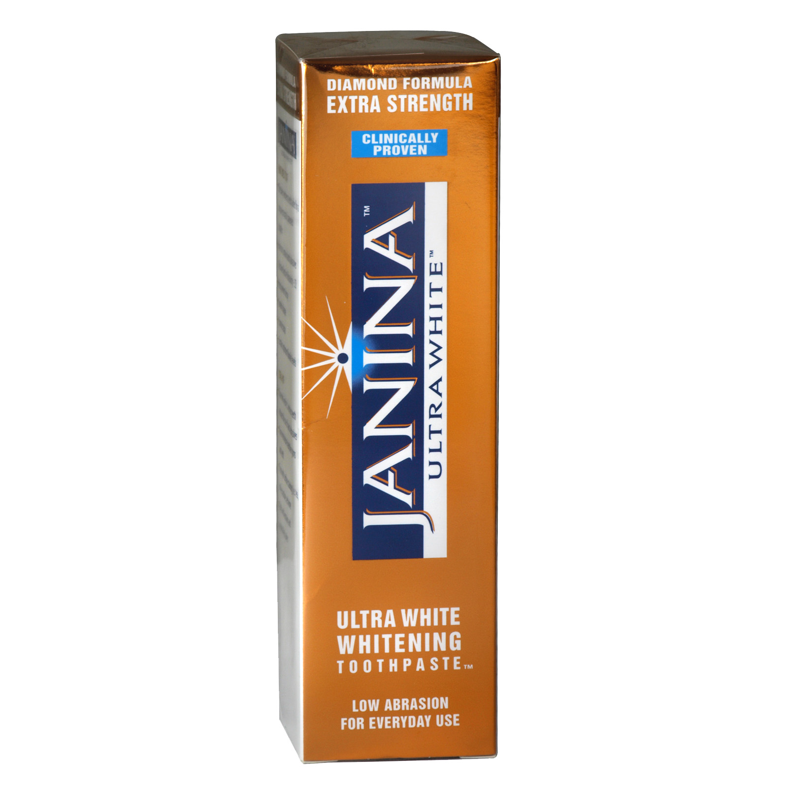 JANINA ULTRA WHITENING TOOTHPASTE 75ML EXTRA STRENGTH GOLD