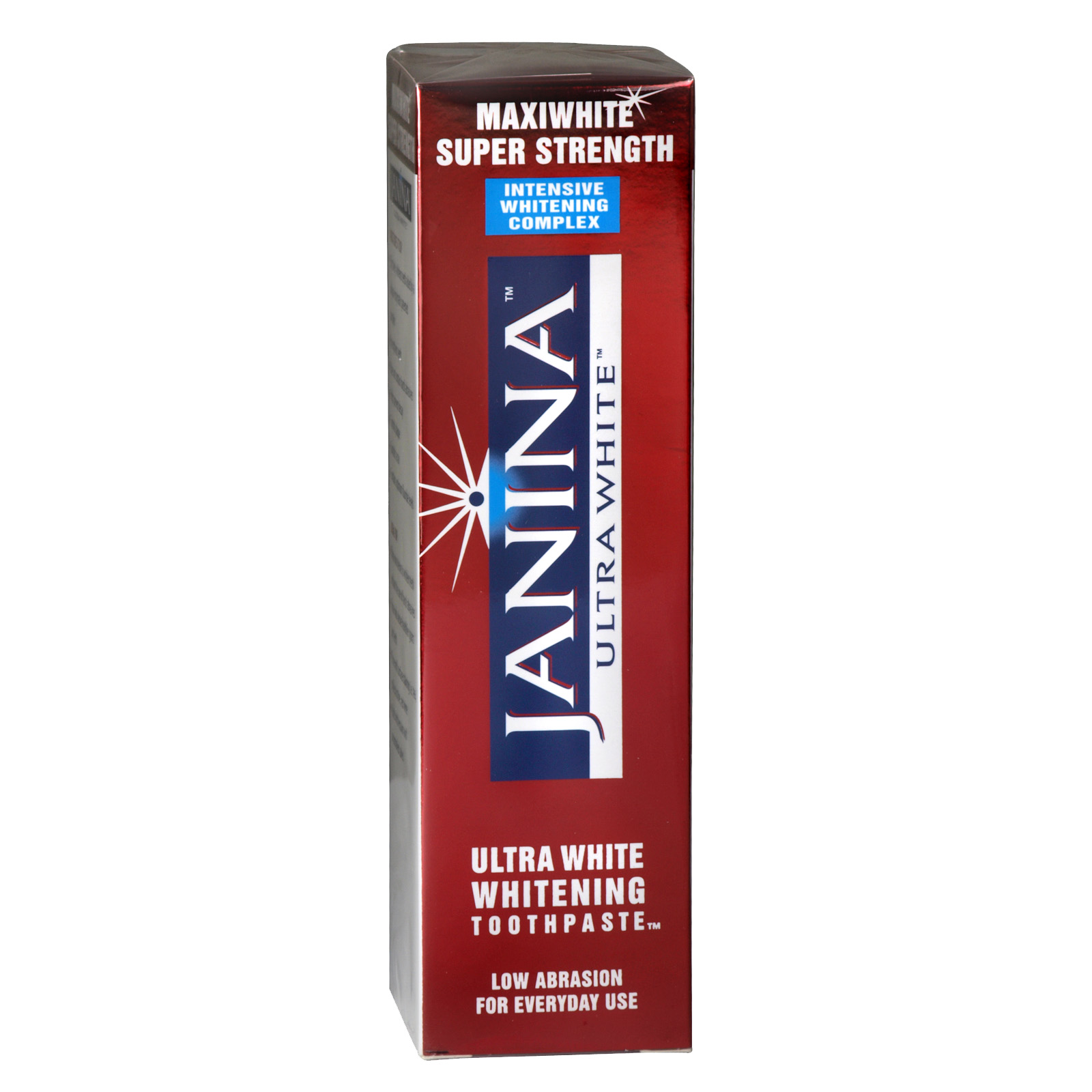 JANINA MAXI WHITENING TOOTHPASTE 75ML SUPER STRENGTH RED