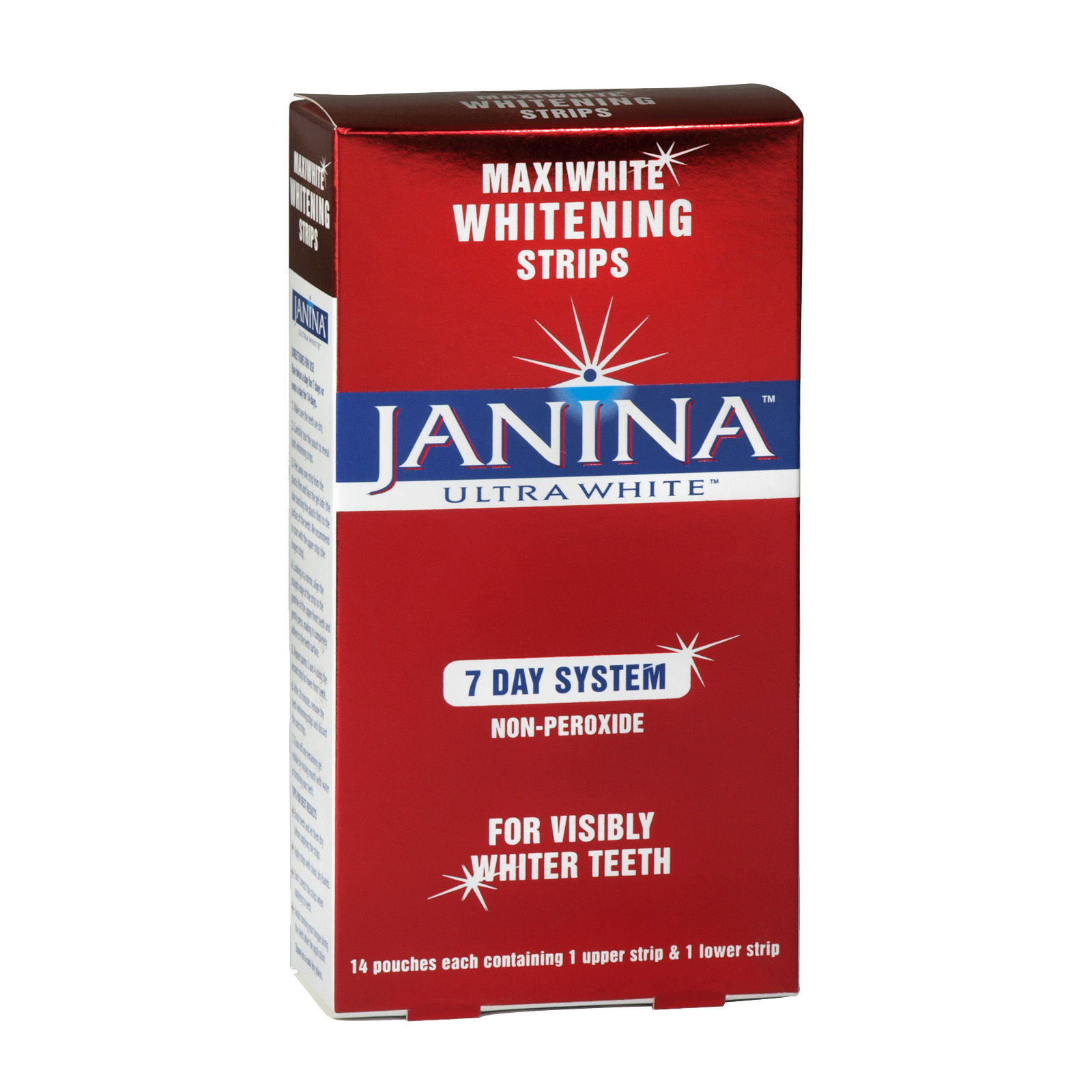 JANINA ULTRA WHITENING TOOTHPASTE 7 DAY SYSTEM WHITENING STRIPS