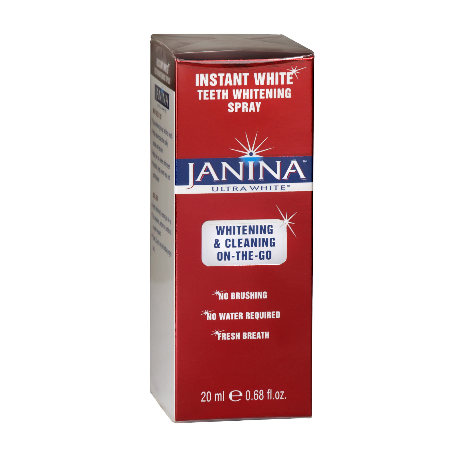 JANINA ULTRA WHITENING 20ML WHITENING+CLEANING ON THE GO SPRAY