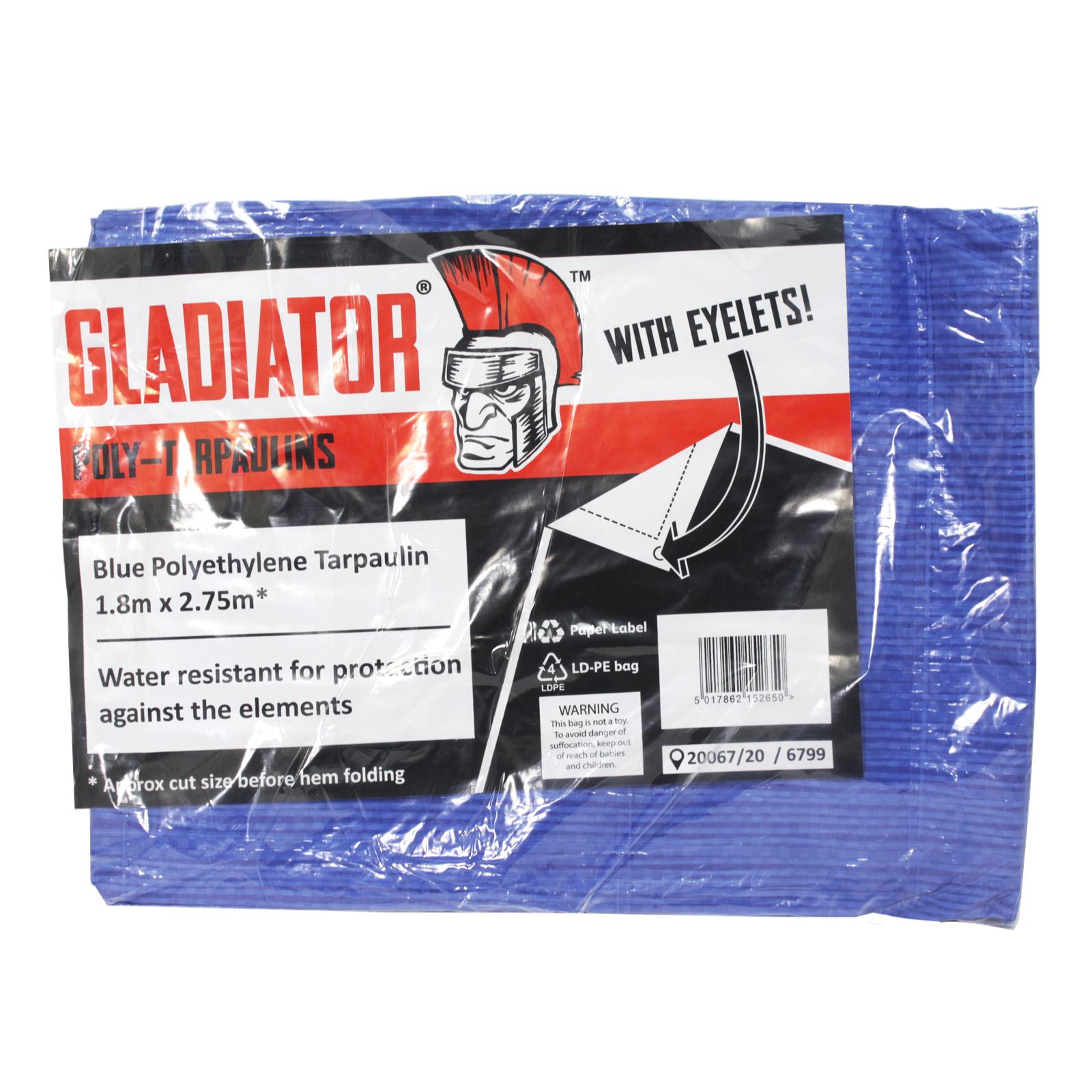 POLY-TARPAULIN 1.8X2.75M/6X9 BLUE