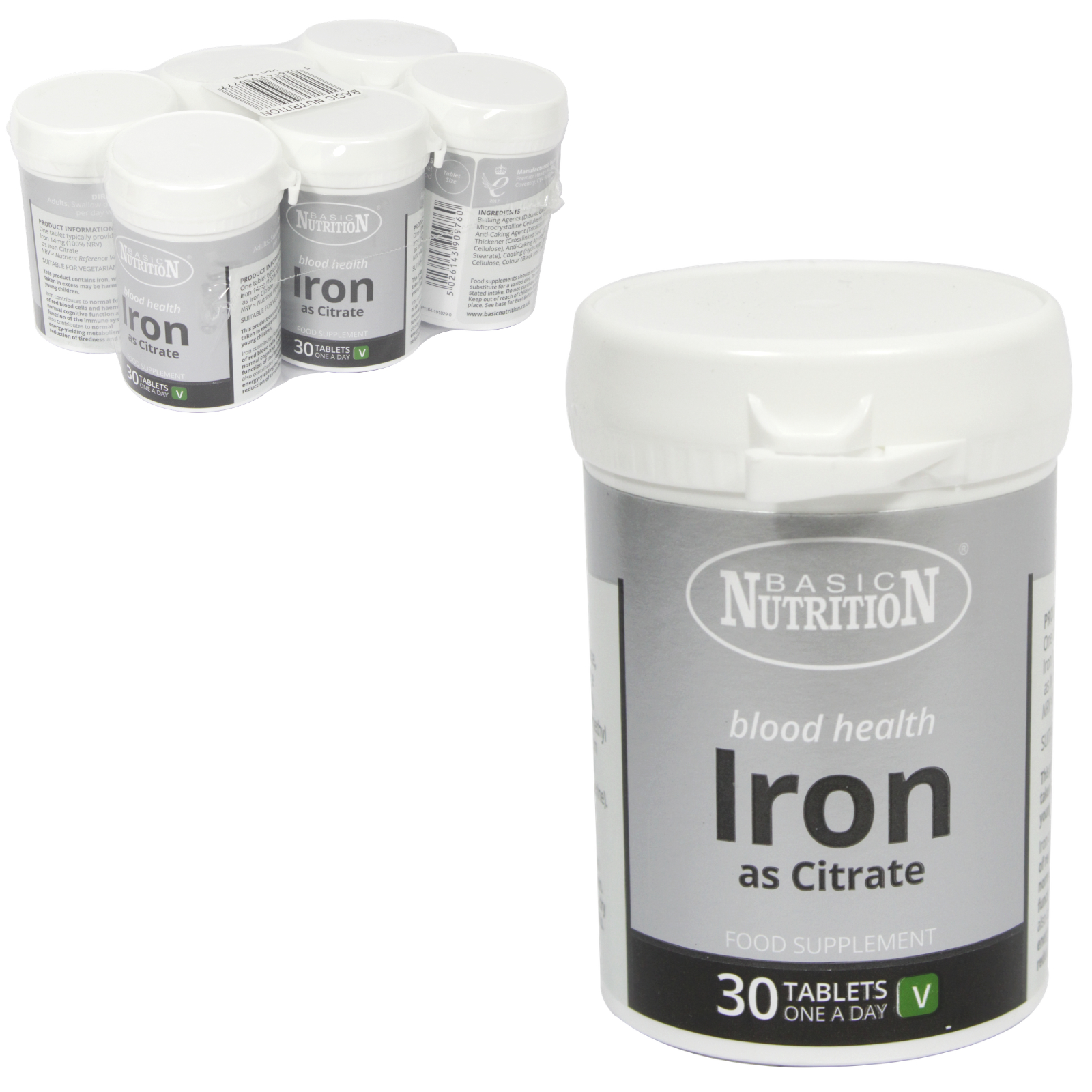 BASIC NUTRITION IRON TABS 30X14MG X6