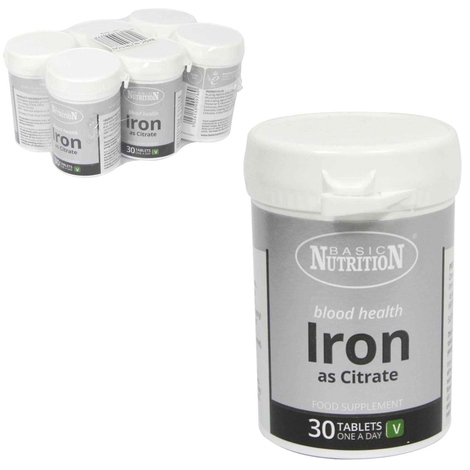 BASIC NUTRITION IRON TABS 30X14MG X6