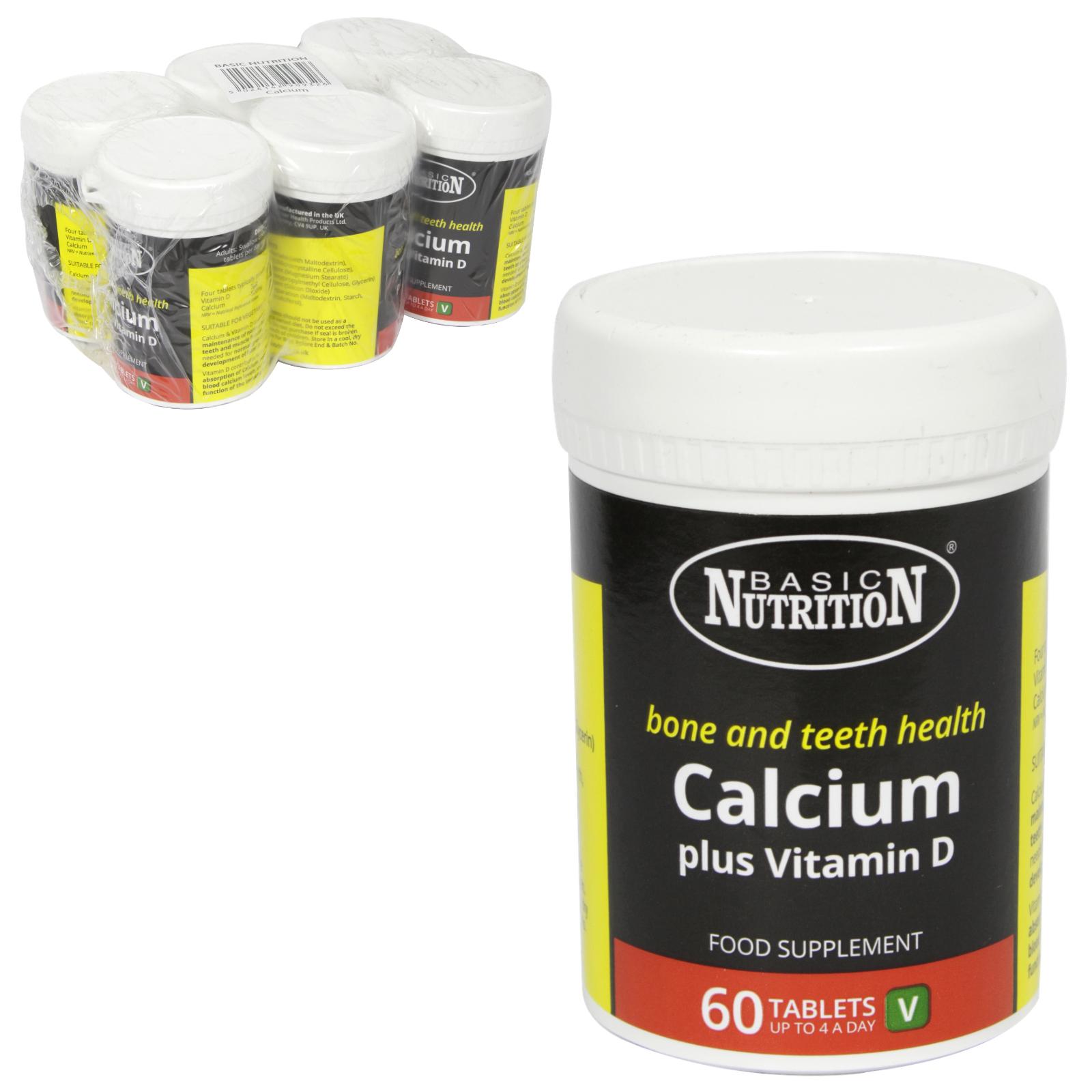 BASIC NUTRITION CALCIUM+VIT D 60X200MG X6