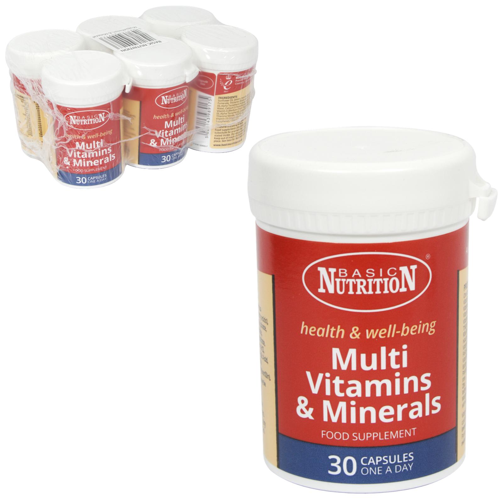 BASIC NUTRITION MULTI VITS+MINS 30S X6