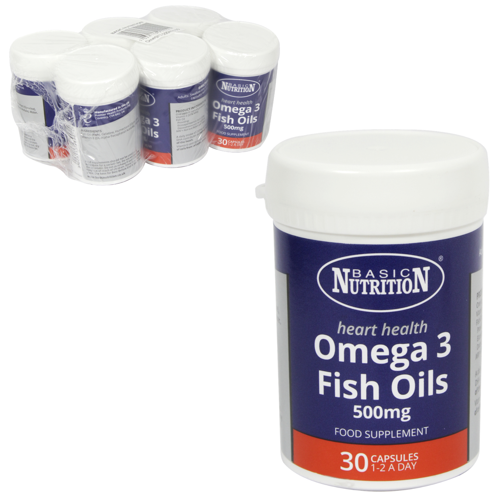 BASIC NUTRITION OMEGA-3 30X500MG X6