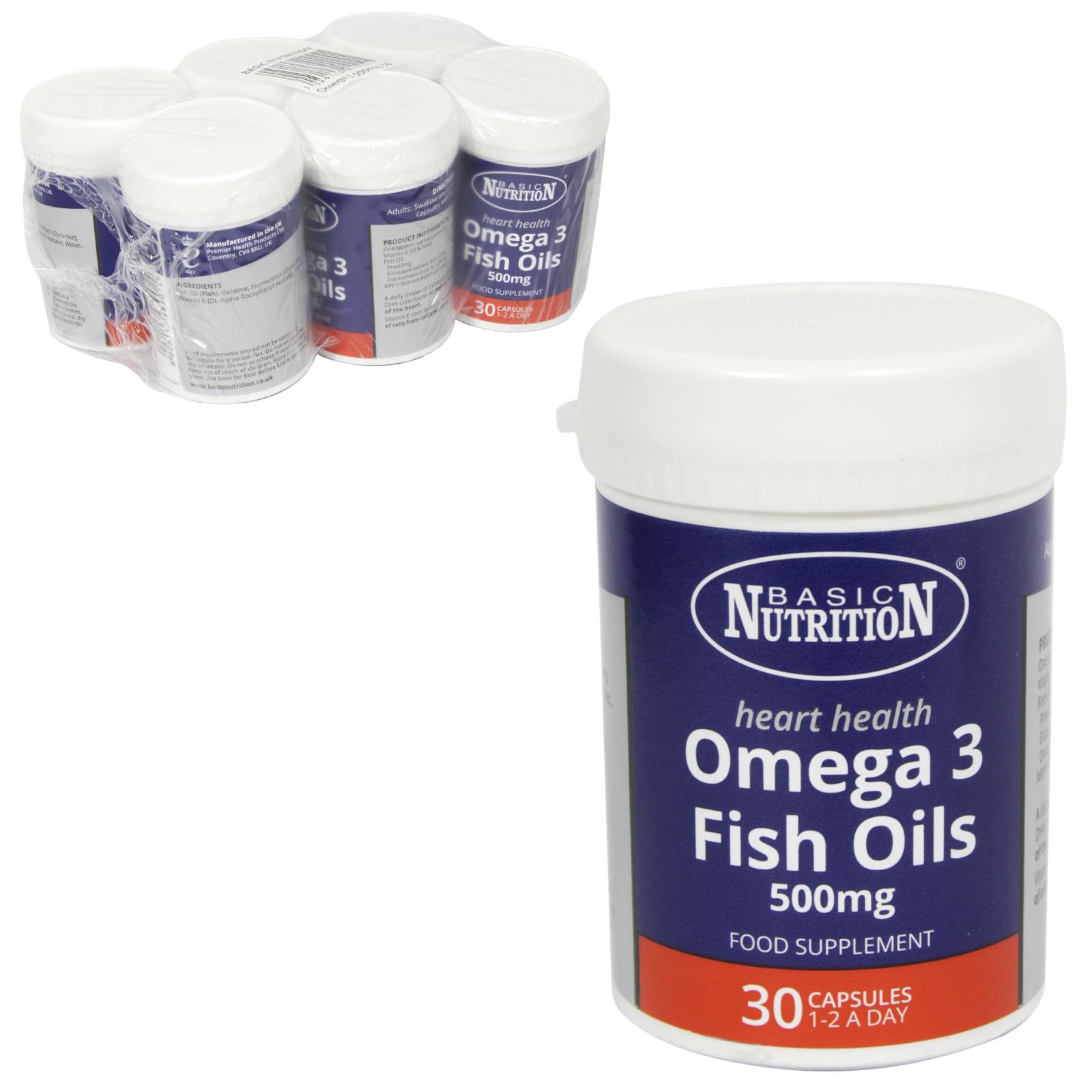 BASIC NUTRITION OMEGA-3 30X500MG X6