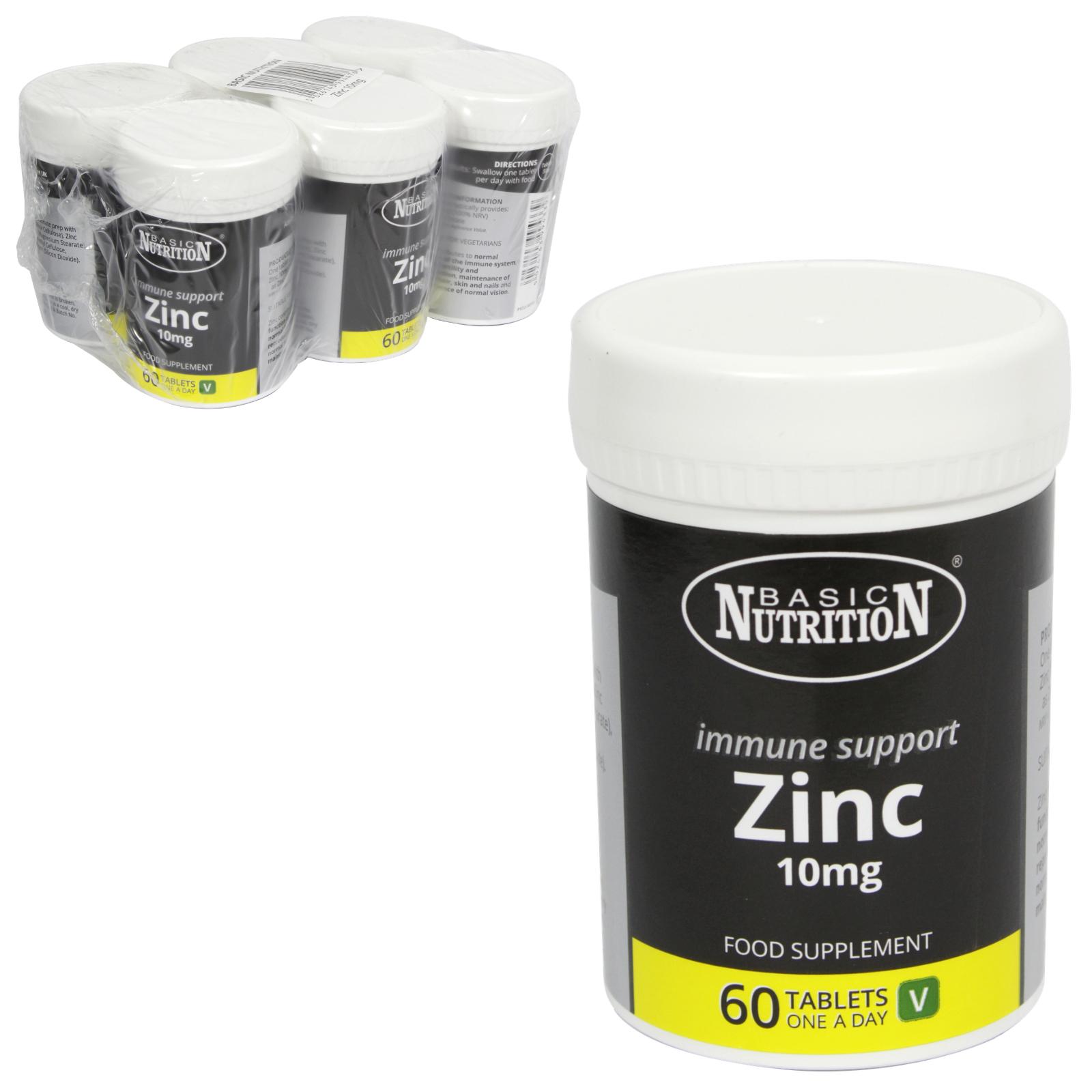 BASIC NUTRITION ZINC 60X10MG X6