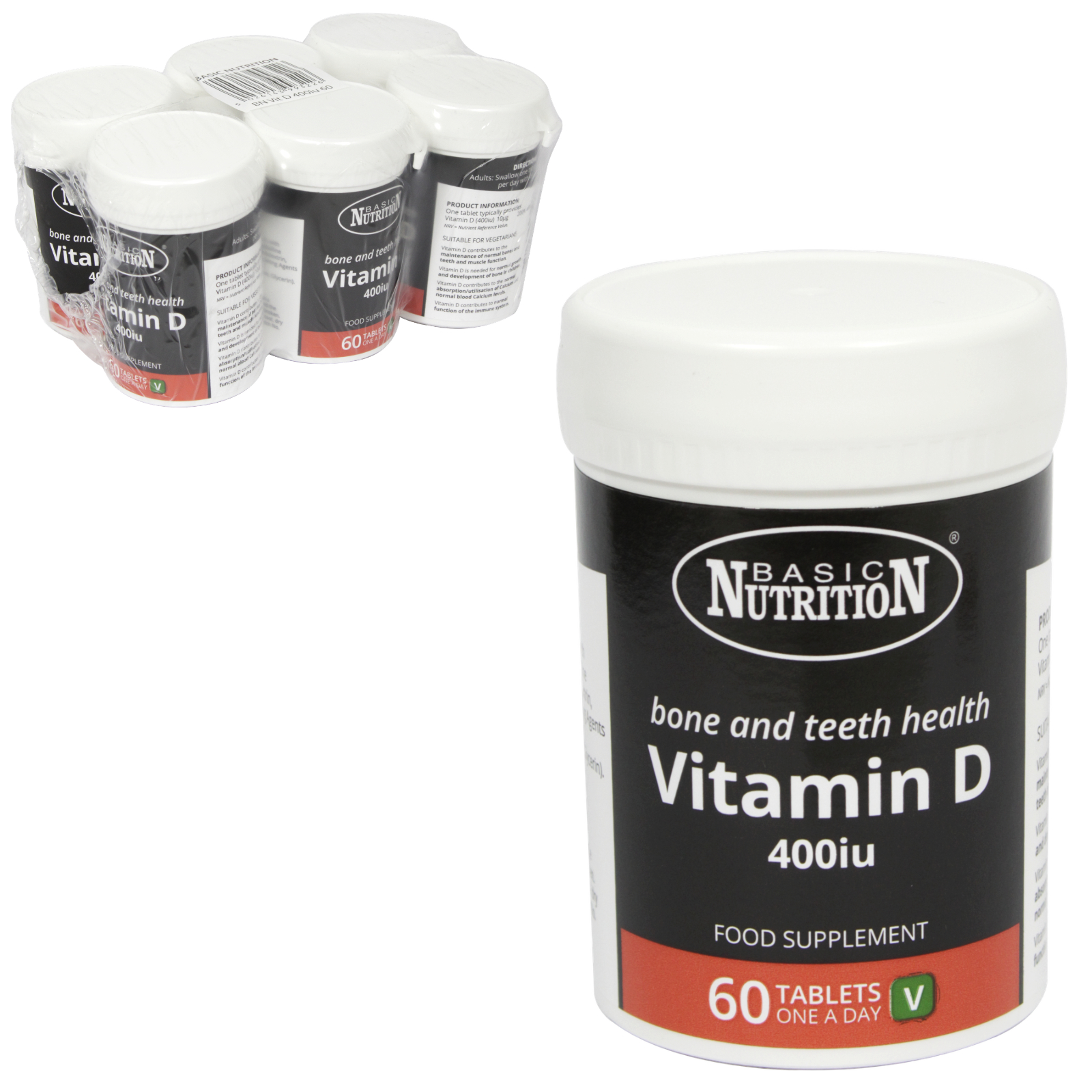 BASIC NUTRITION VIT D 60X400IU X6