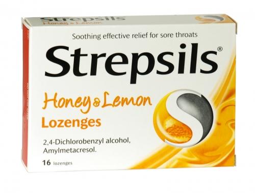 STREPSILS 16 LOZENGES HONEY+LEMON X6
