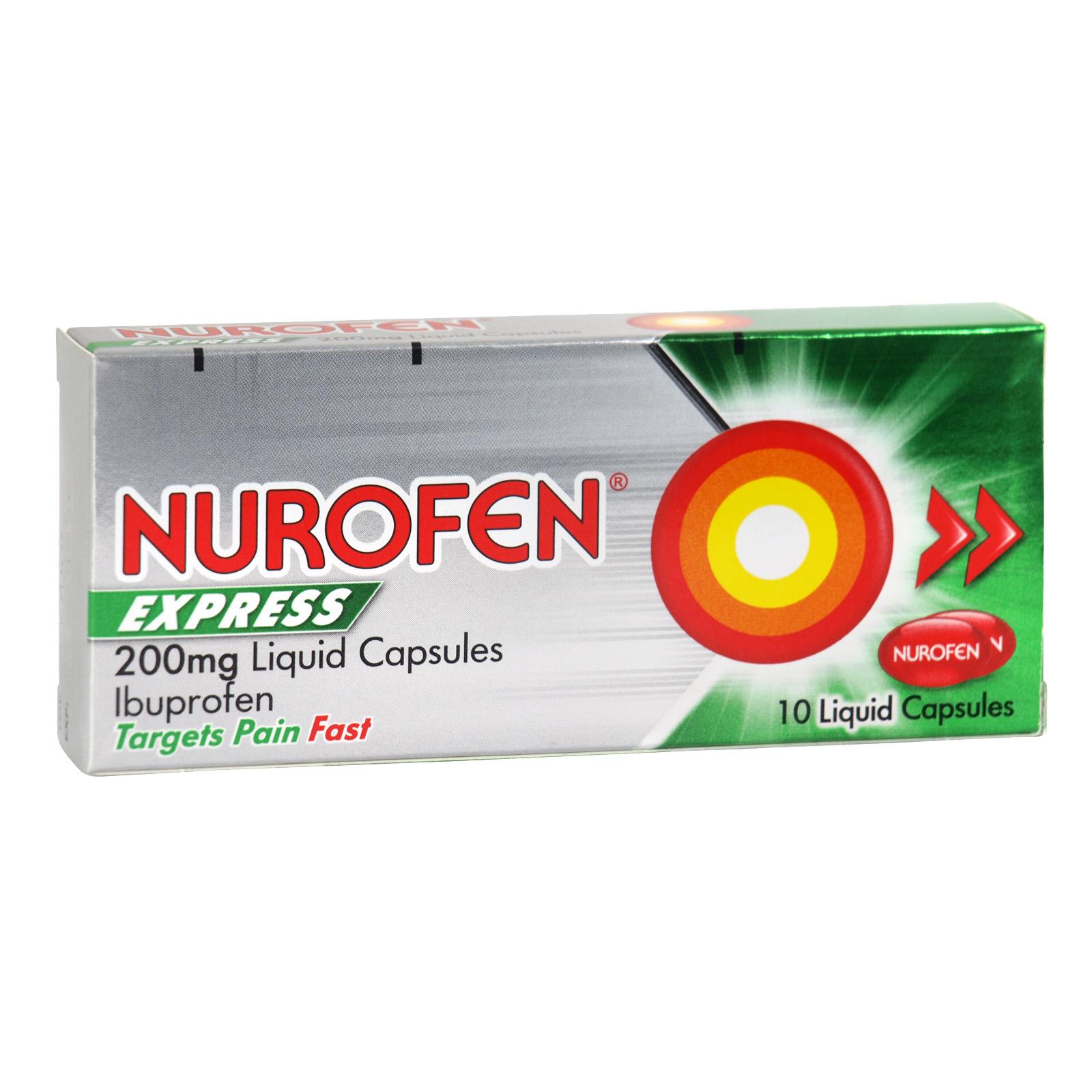 NUROFEN EXPRESS LIQUID CAPS 10X200MG X6 (NON RETURNABLE)