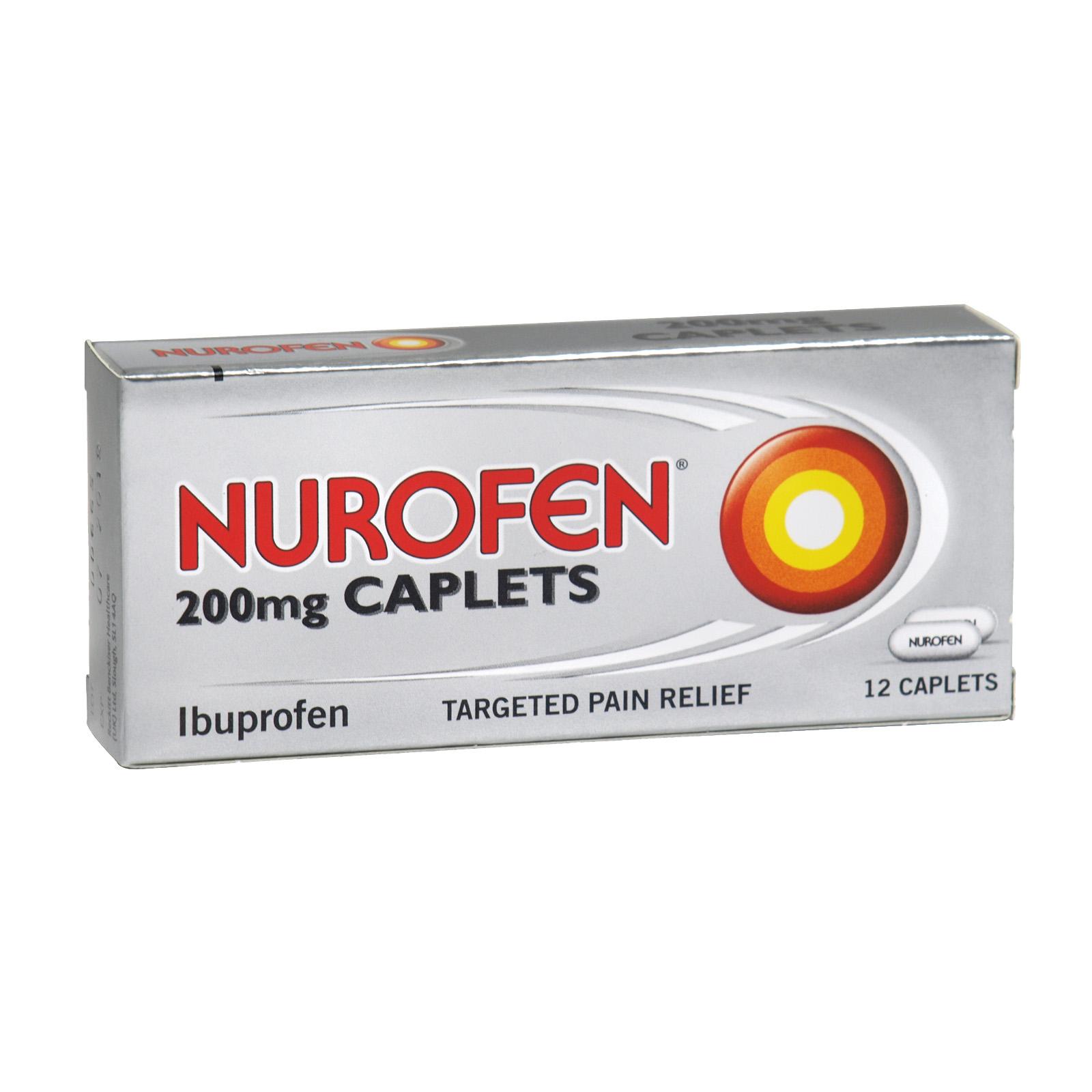 NUROFEN CAPLETS 12X200MG X12 (NON RETURNABLE)