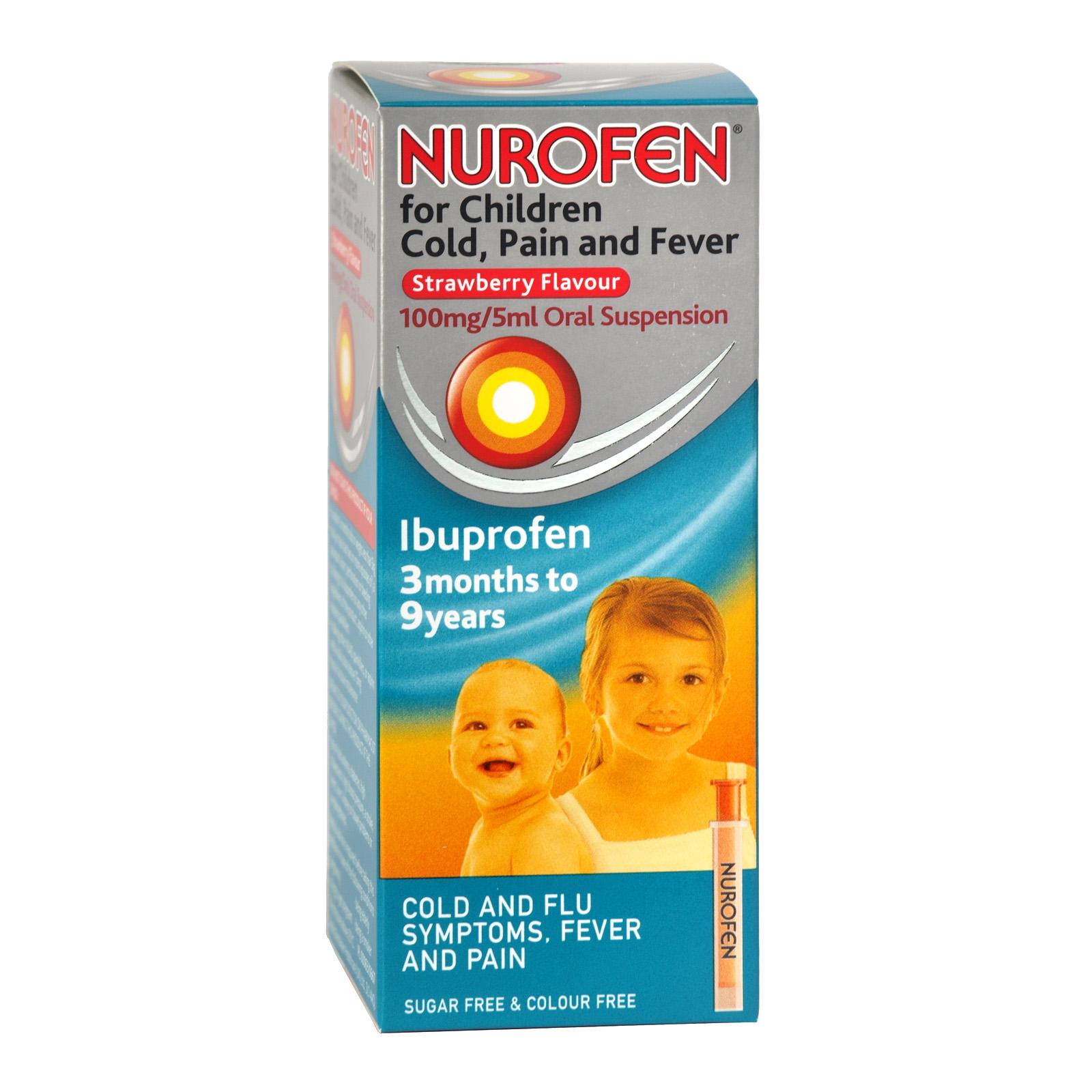 NUROFEN FOR KIDS 100ML COLD+PAIN+FEVER X6 (NON RETURNABLE)
