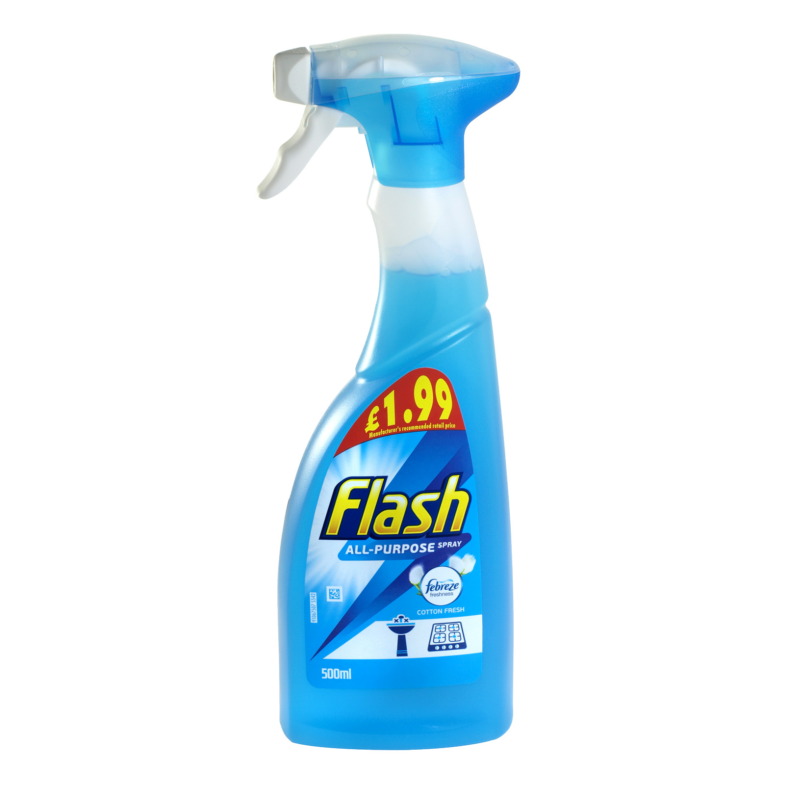 FLASH SPRAY 500ML ALL PURPOSE COTTON FRESH PM £1.99 X6
