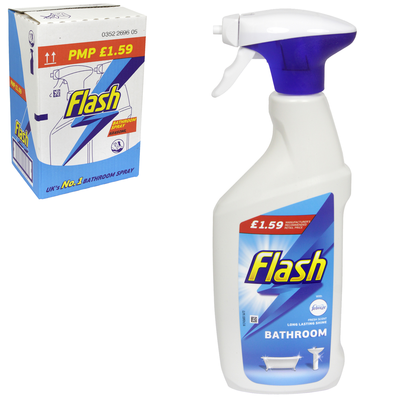 FLASH SPRAY 500ML BATHROOM PM ?1.99 X6