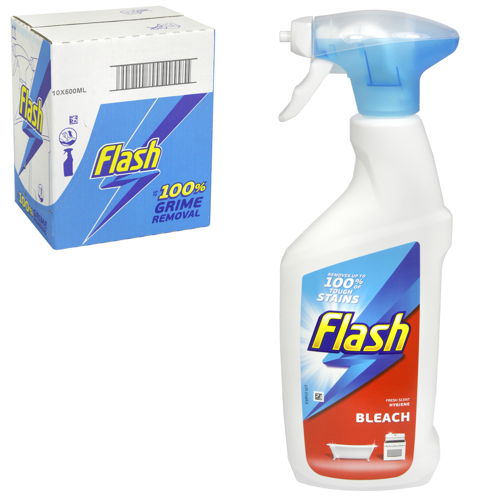 FLASH SPRAY 500ML WITH BLEACH PM £1.99 X 6