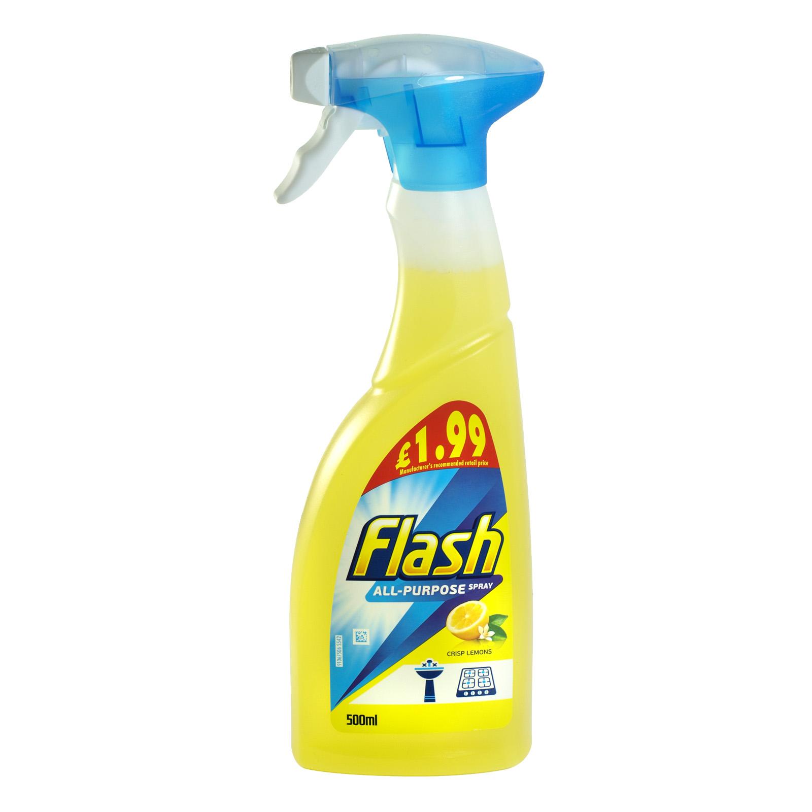 FLASH SPRAY 500ML ALL PURPOSE CRISP LEMONS PM £1.99 X6