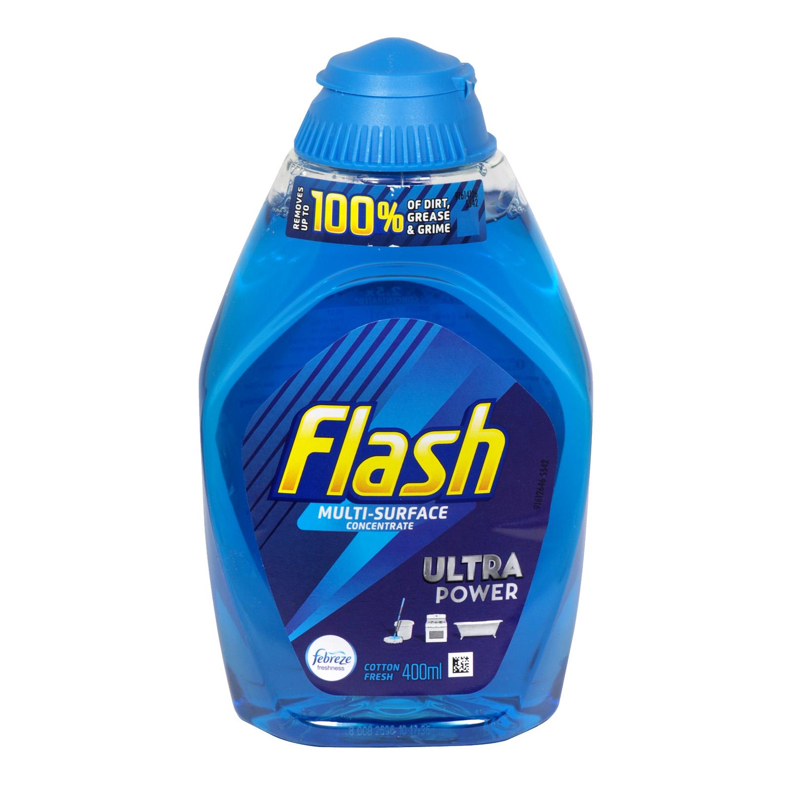 FLASH LIQUID GEL 400ML COTTON FRESH X10
