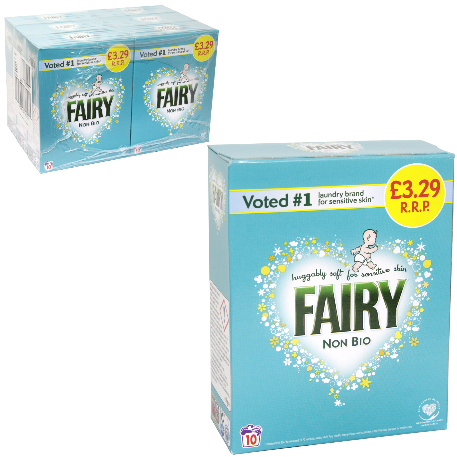 FAIRY NON-BIO POWDER 10WASH PM ?3.29 X6