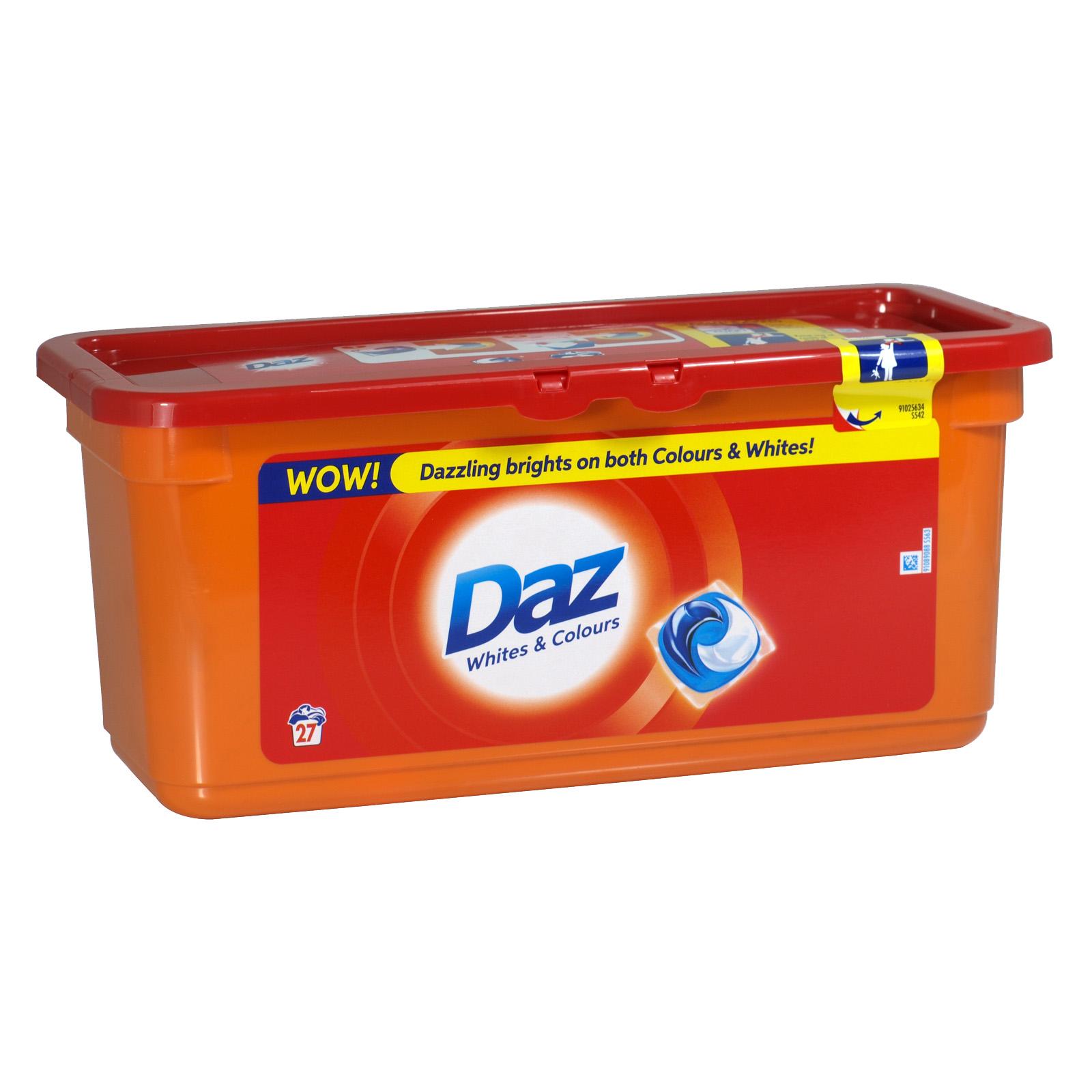 DAZ GO PODS 27 WASH 3 IN 1 WHITES & COLOURS X3