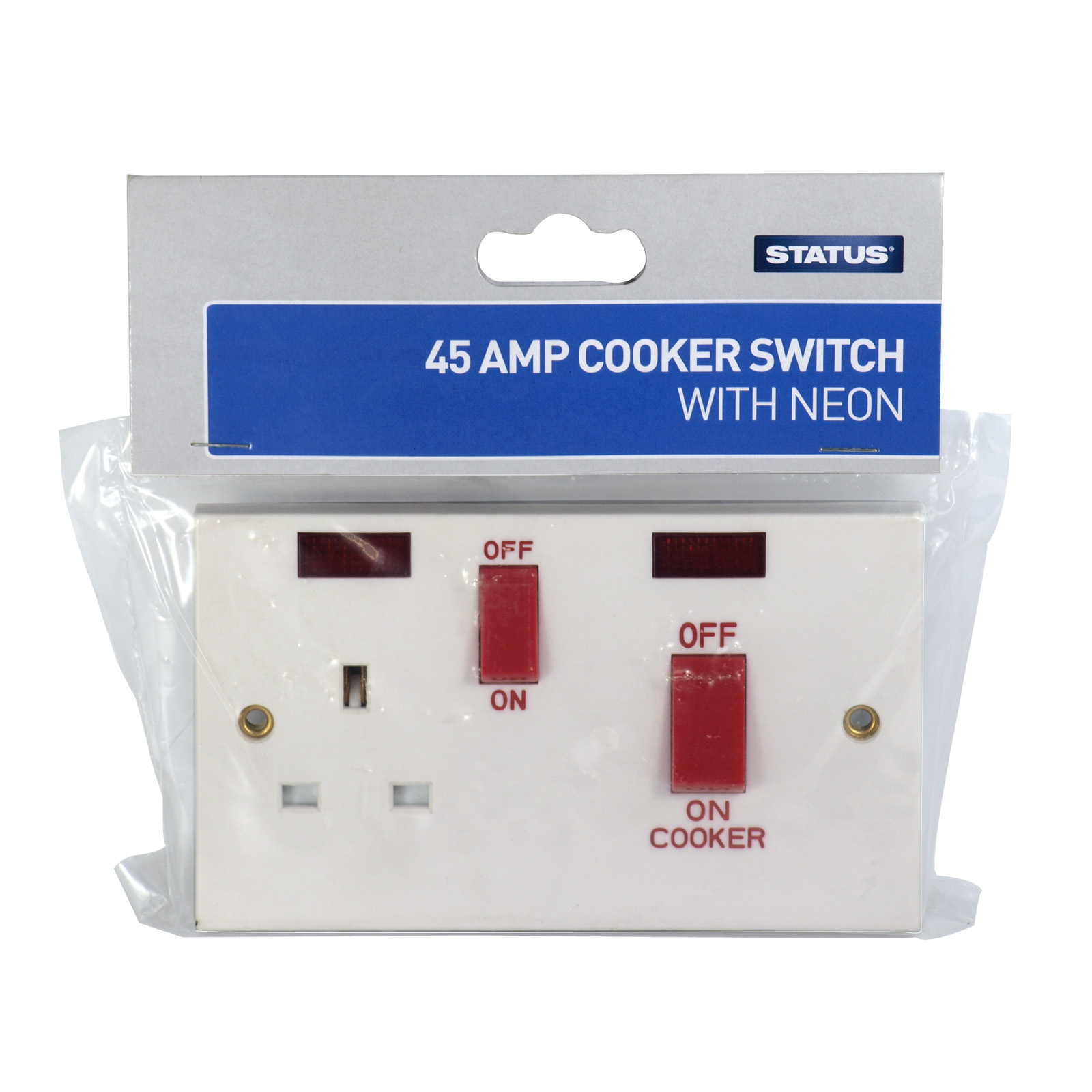 STATUS COOKER SWITCH 1GANGX45AMP
