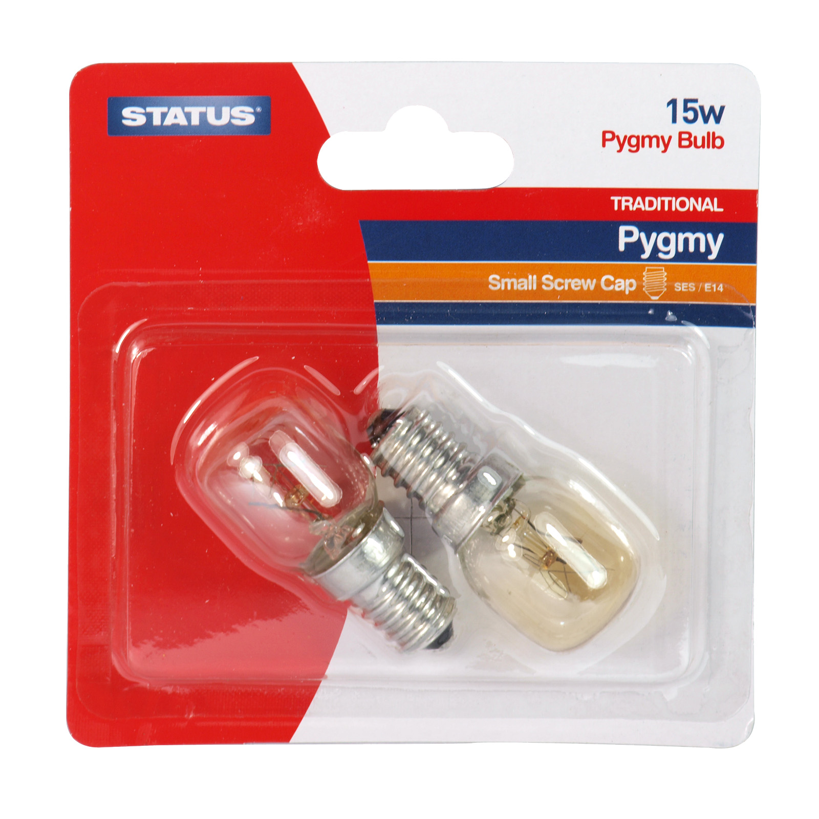 STATUS PYGMY LIGHT BULB 2X15W SES CLEAR