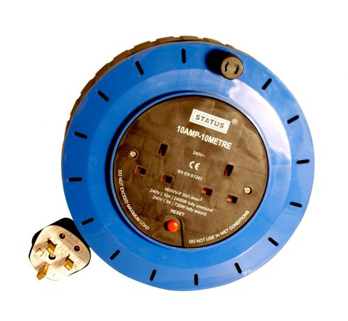 EXTENSION CABLE REEL 2WAY 10AMP 10M