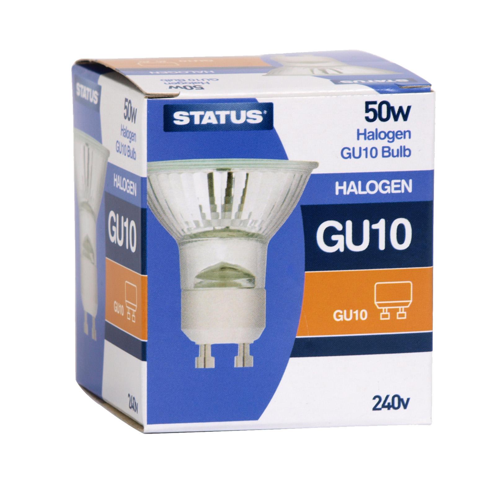 STATUS HALOGEN LIGHT BULB GU10 240V 50W