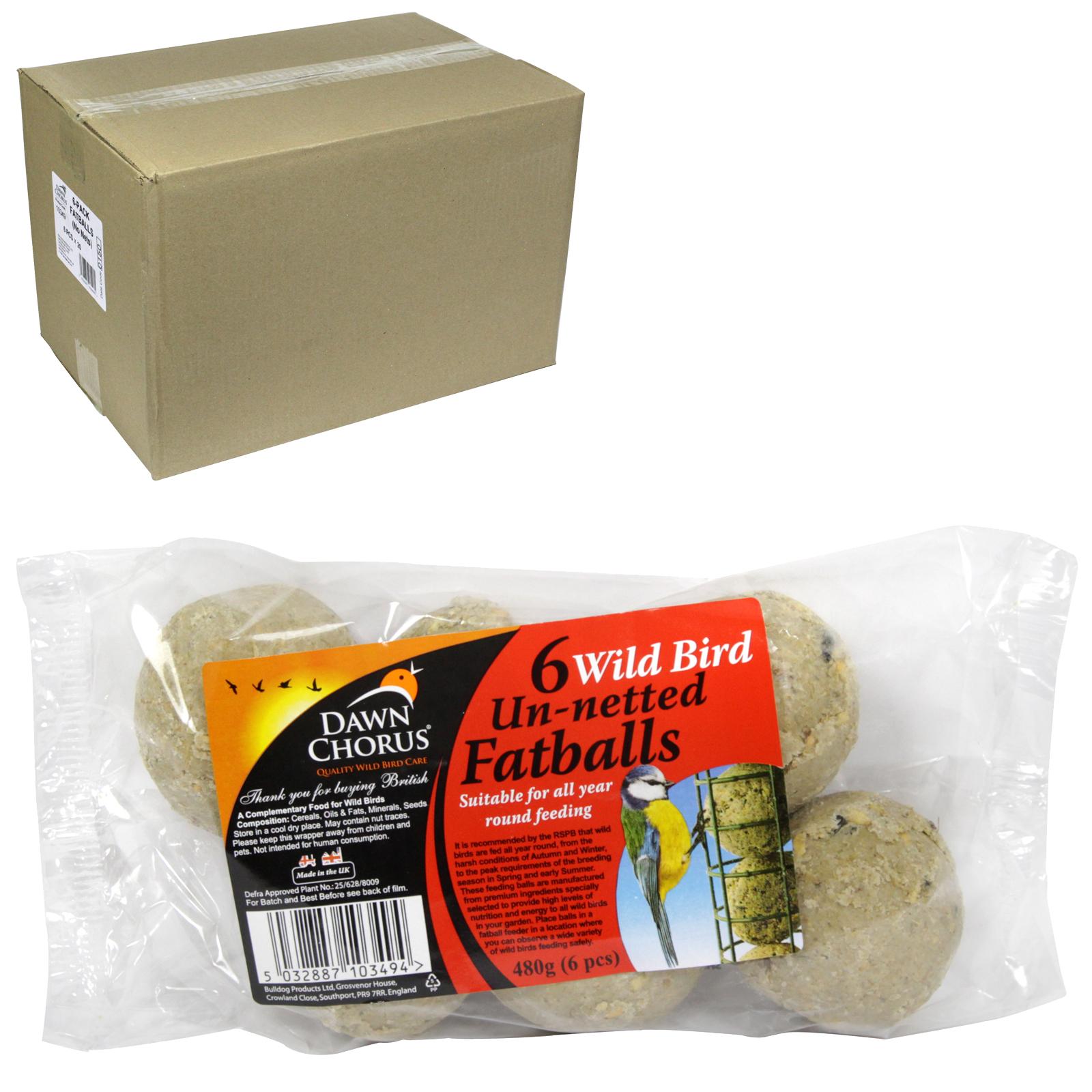 DAWN CHORUS BIRD SEED FAT BALLS 6PK X20
