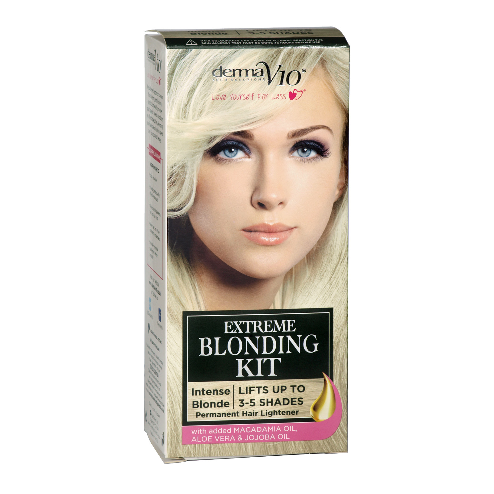 DERMA V10 EXTREME BLONDING KIT INTENSE BLONDE LIFTS 3-5 SHADES X6