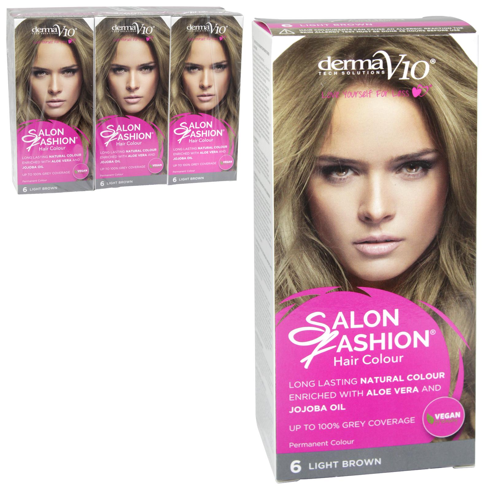 SALON FASHION HAIR COLOUR 6 LIGHT BROWN X6