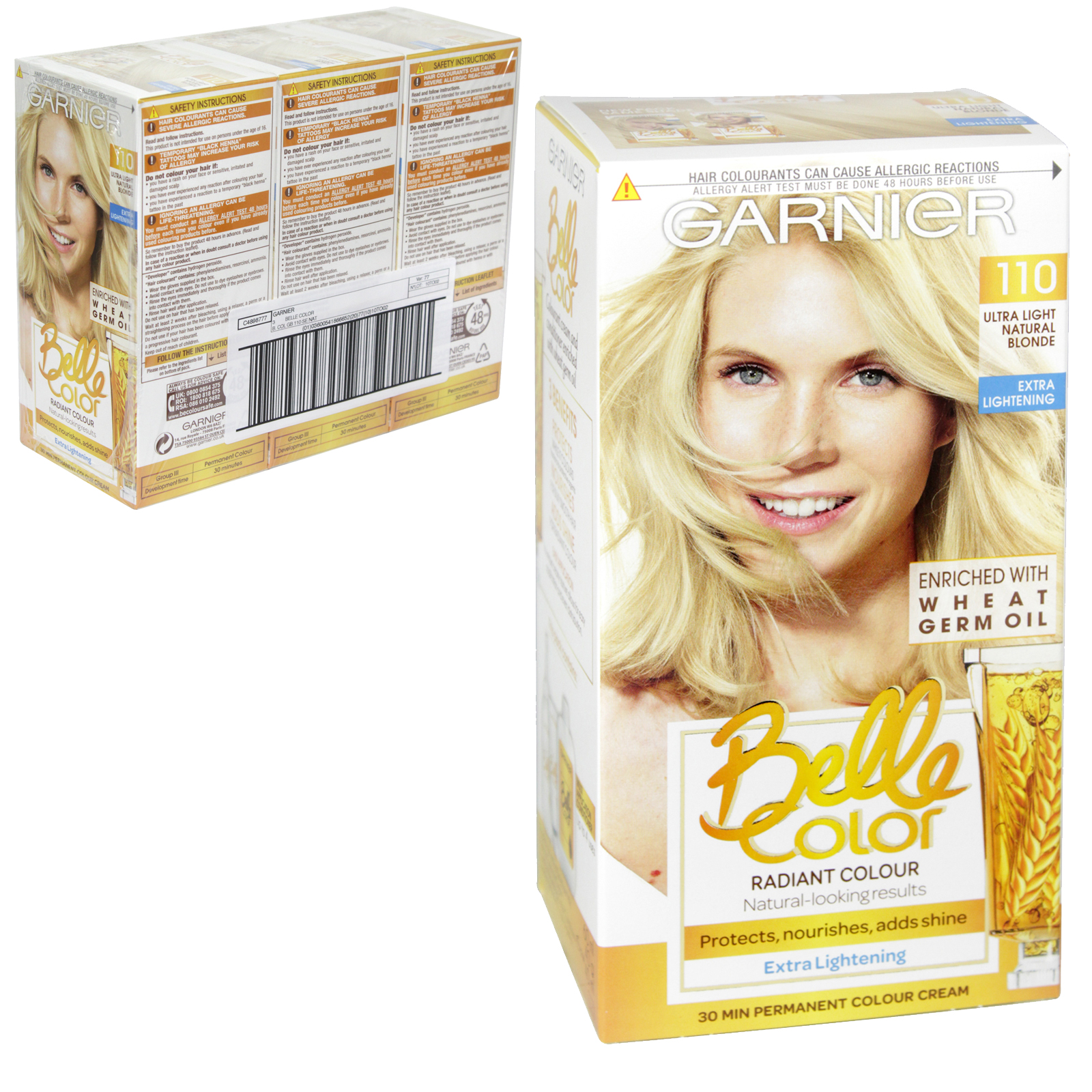 BELLE COLOR 110 ULTRA LIGHT NATURAL BLONDE X3